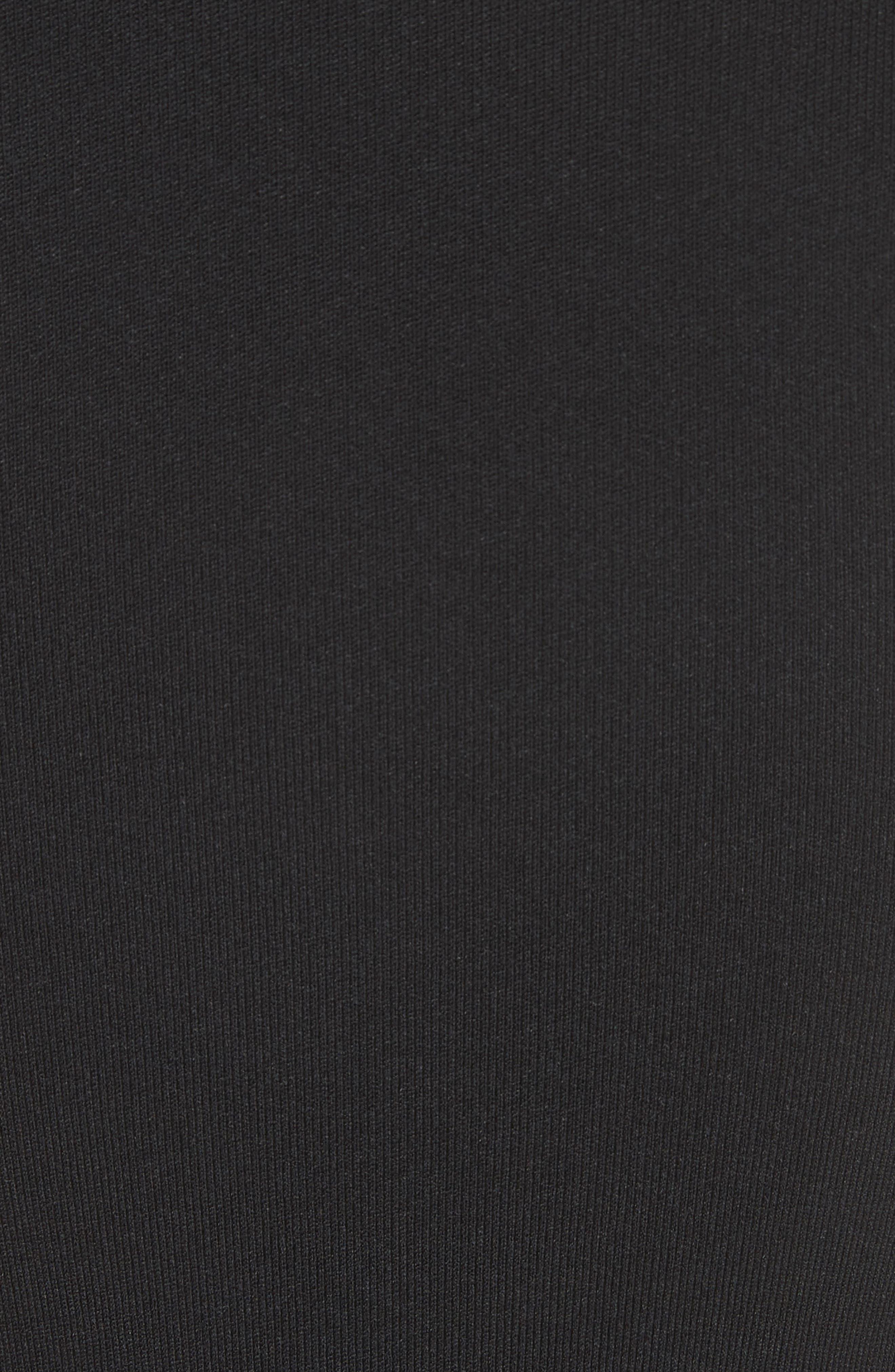 Open Knit Sleeve Dress,                             Alternate thumbnail 5, color,                             001