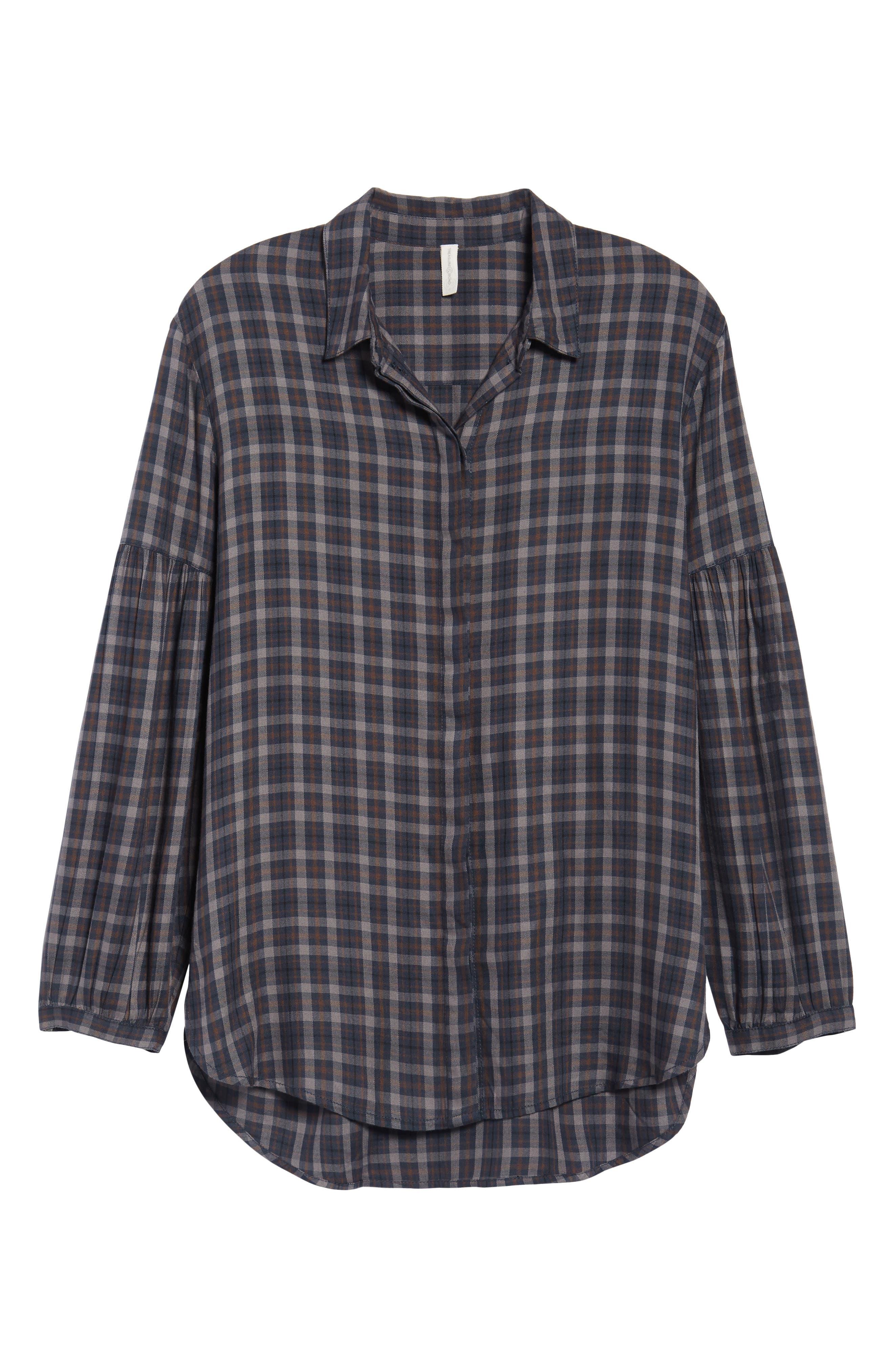 Puff Sleeve Boyfriend Shirt,                             Alternate thumbnail 6, color,                             400