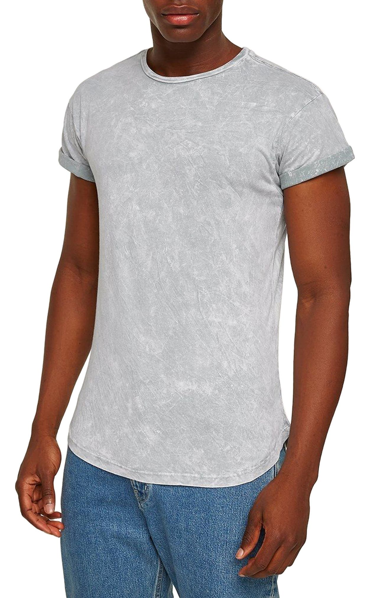 Crinkle Marble T-Shirt,                             Main thumbnail 1, color,                             GREY