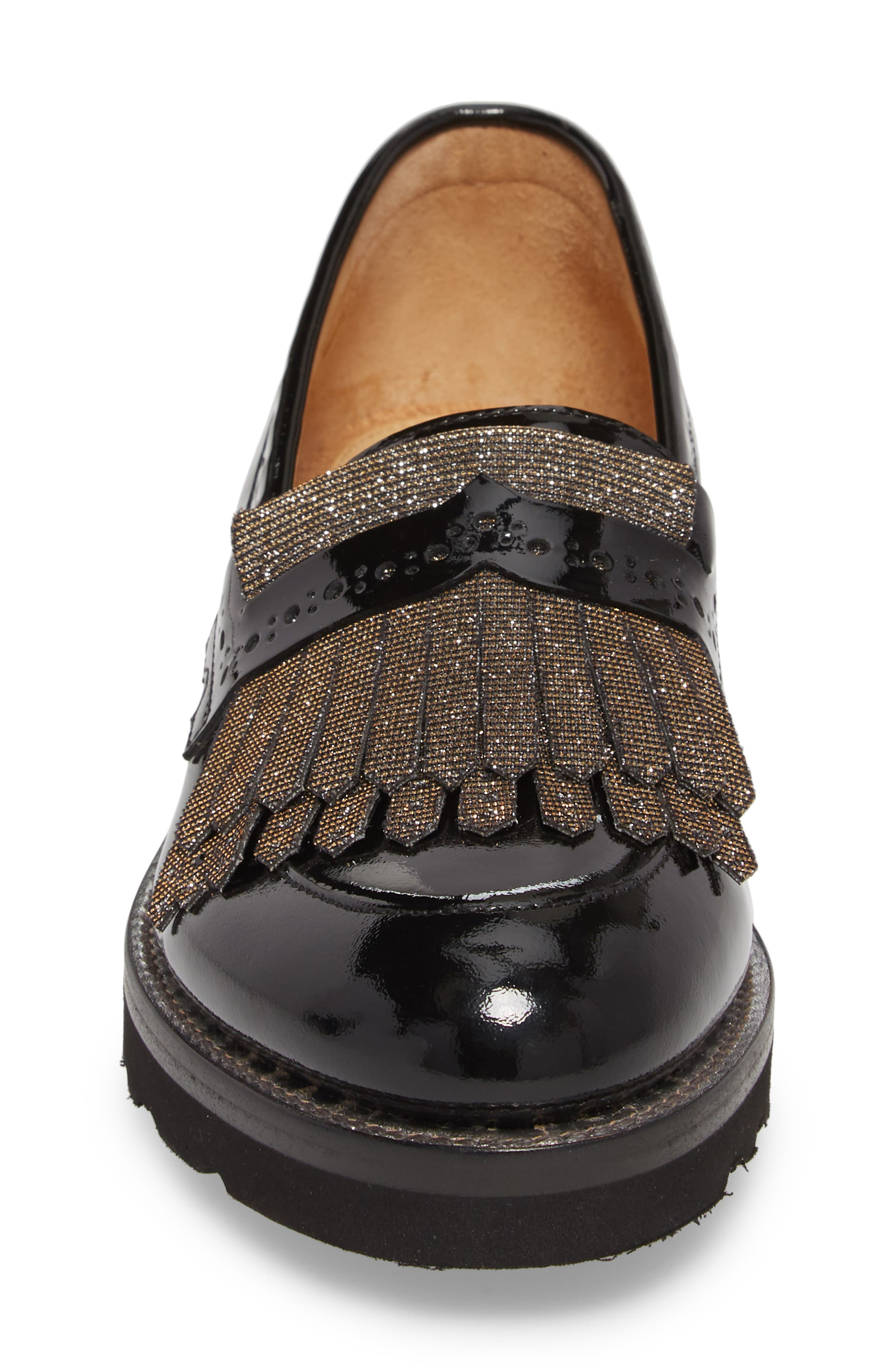 Mr. Pennywise Wedge Loafer,                             Alternate thumbnail 4, color,                             BLACK METALLIC