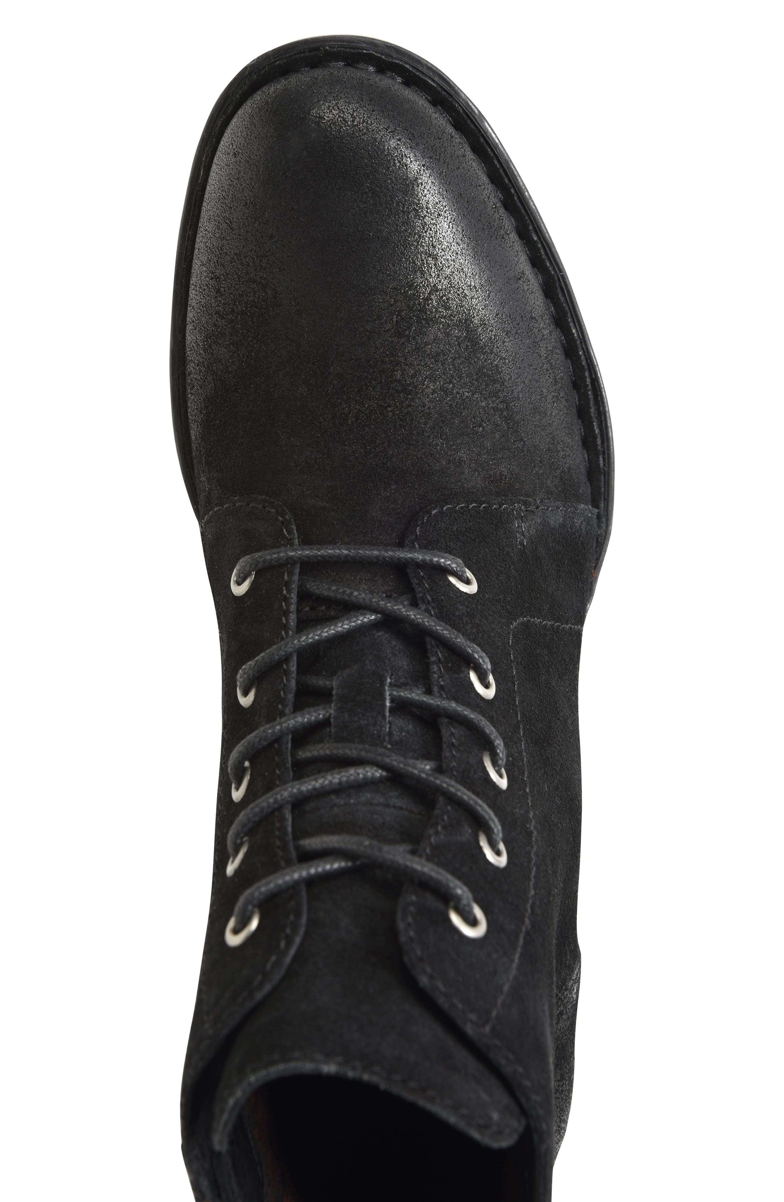 Troye Vintage Lace-Up Boot,                             Alternate thumbnail 5, color,                             002