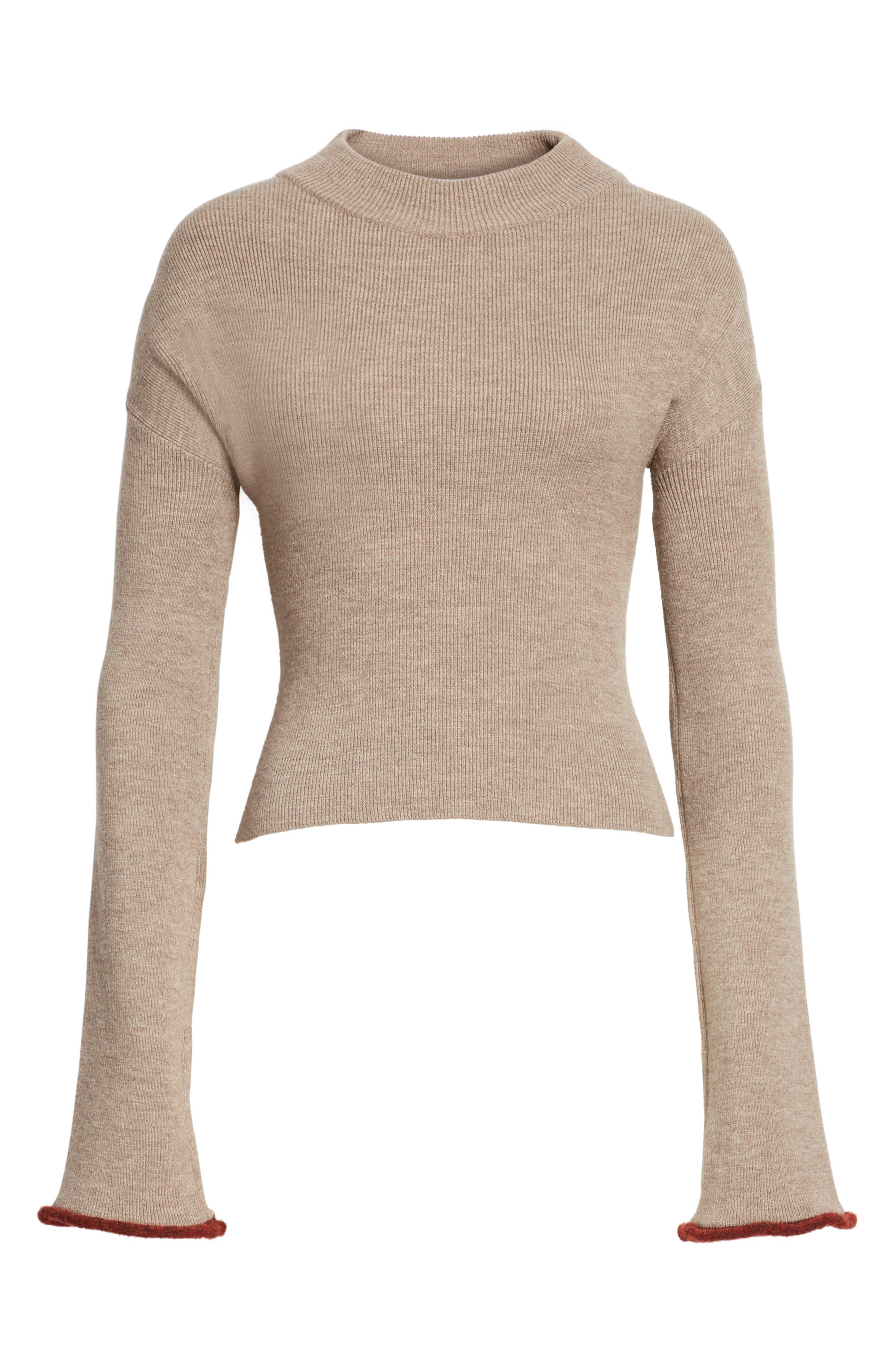 Mock Neck Sweater,                             Alternate thumbnail 6, color,                             260