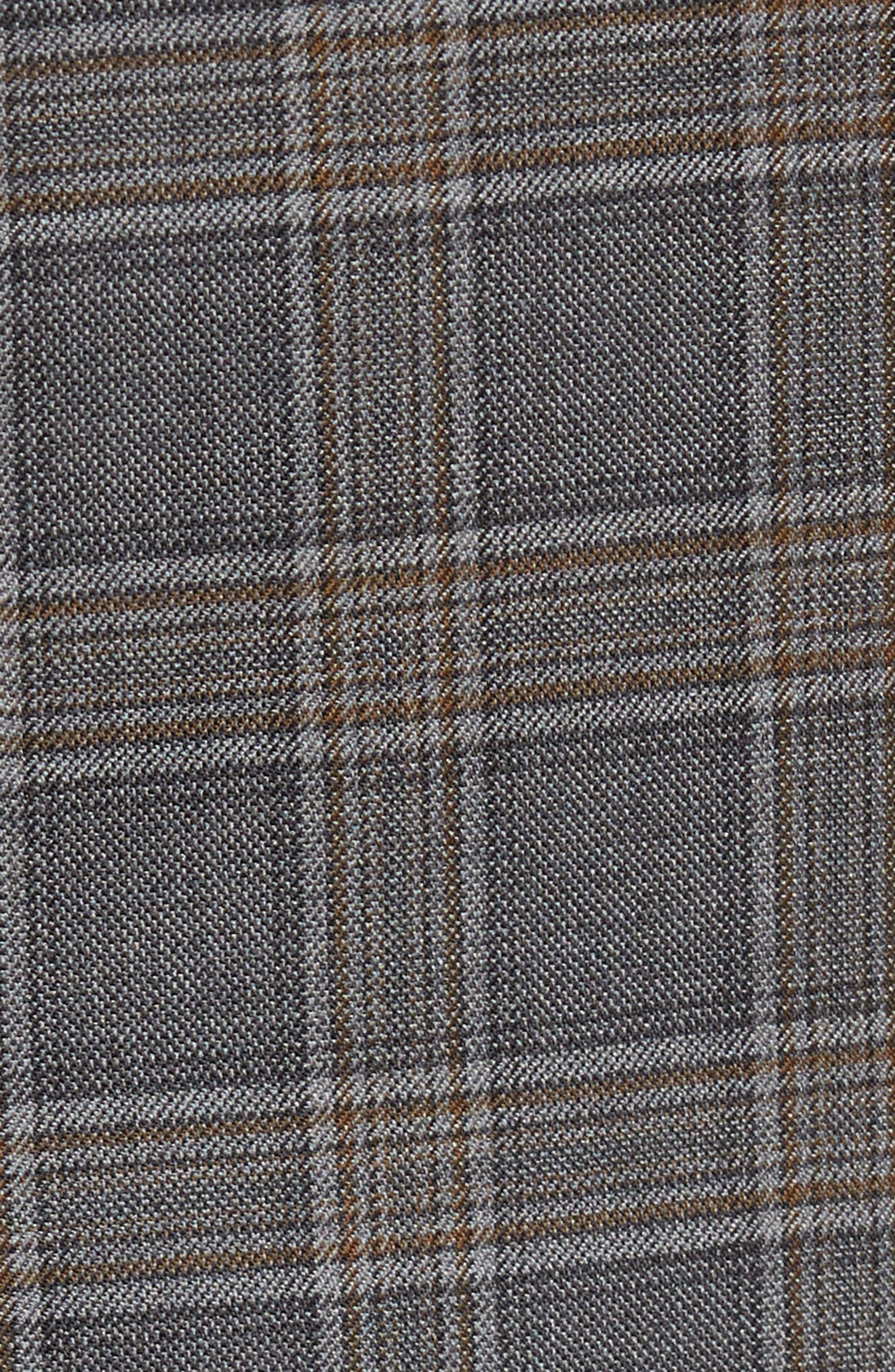 Classic Fit Plaid Wool Sport Coat,                             Alternate thumbnail 6, color,                             020