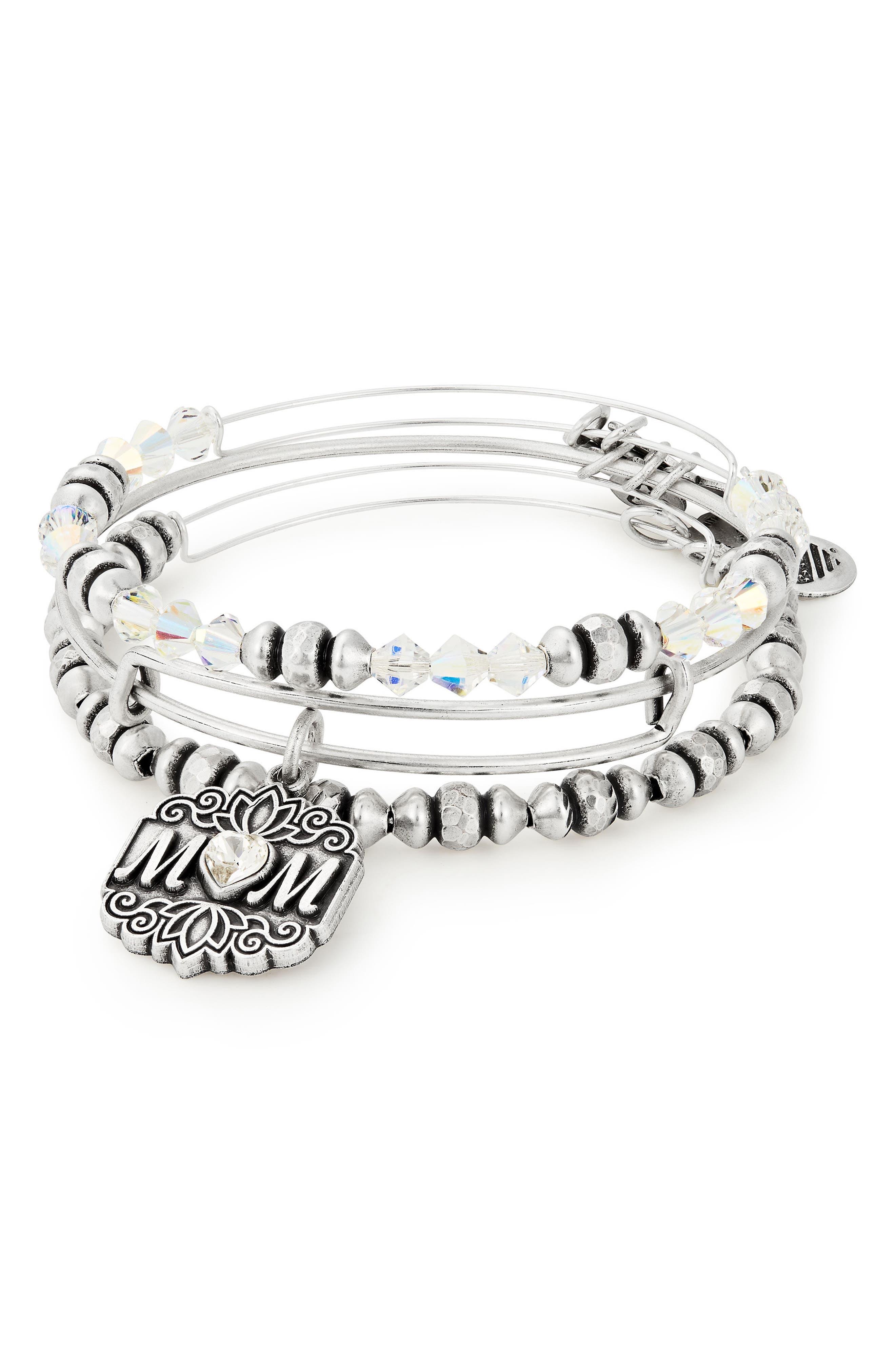 Set of 3 Mom Bracelets,                             Main thumbnail 1, color,                             040