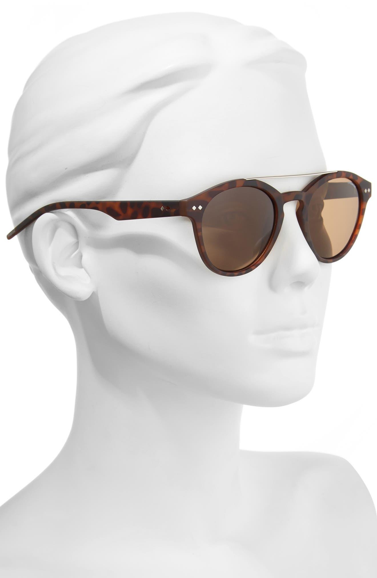 50mm Polarized Retro Sunglasses,                             Alternate thumbnail 4, color,