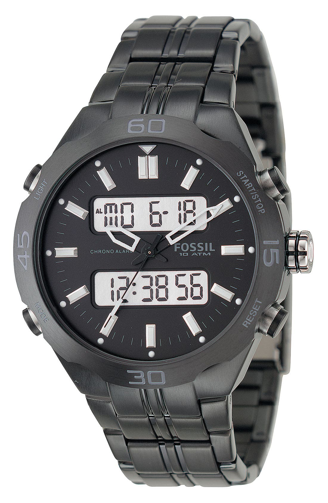 FOSSIL Analog & Digital Watch, Main, color, 001