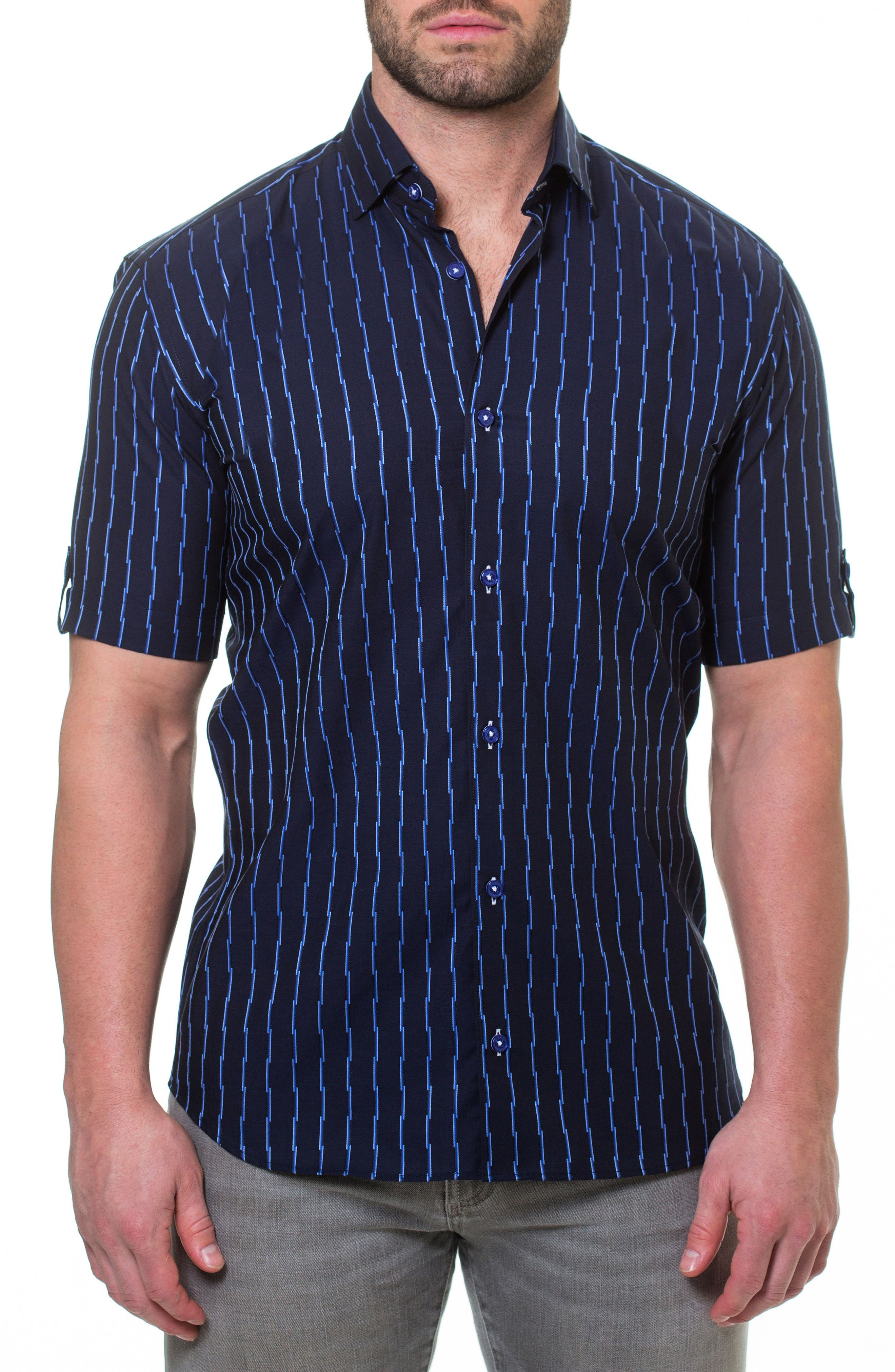 Fresh Link Slim Fit Sport Shirt,                             Main thumbnail 1, color,                             420