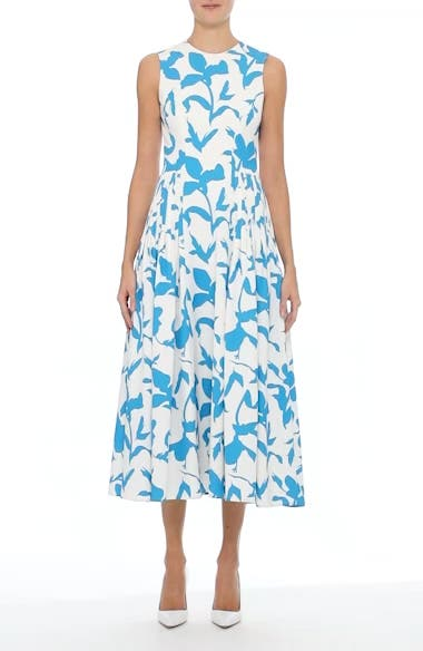 Pleated A-Line Midi Dress, video thumbnail