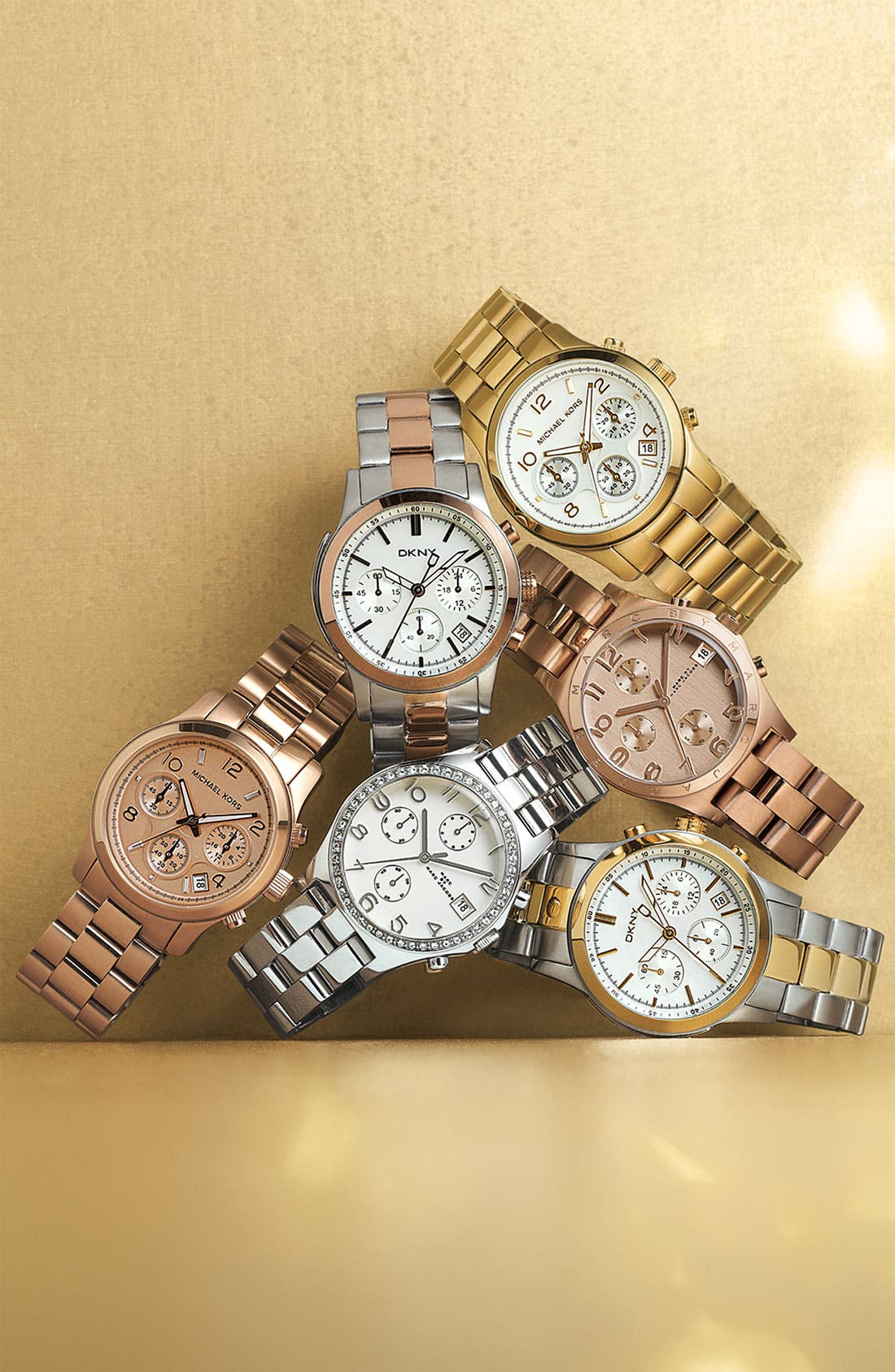 MARC JACOBS,                             'Henry' Chronograph Bracelet Watch, 37mm,                             Alternate thumbnail 3, color,                             710