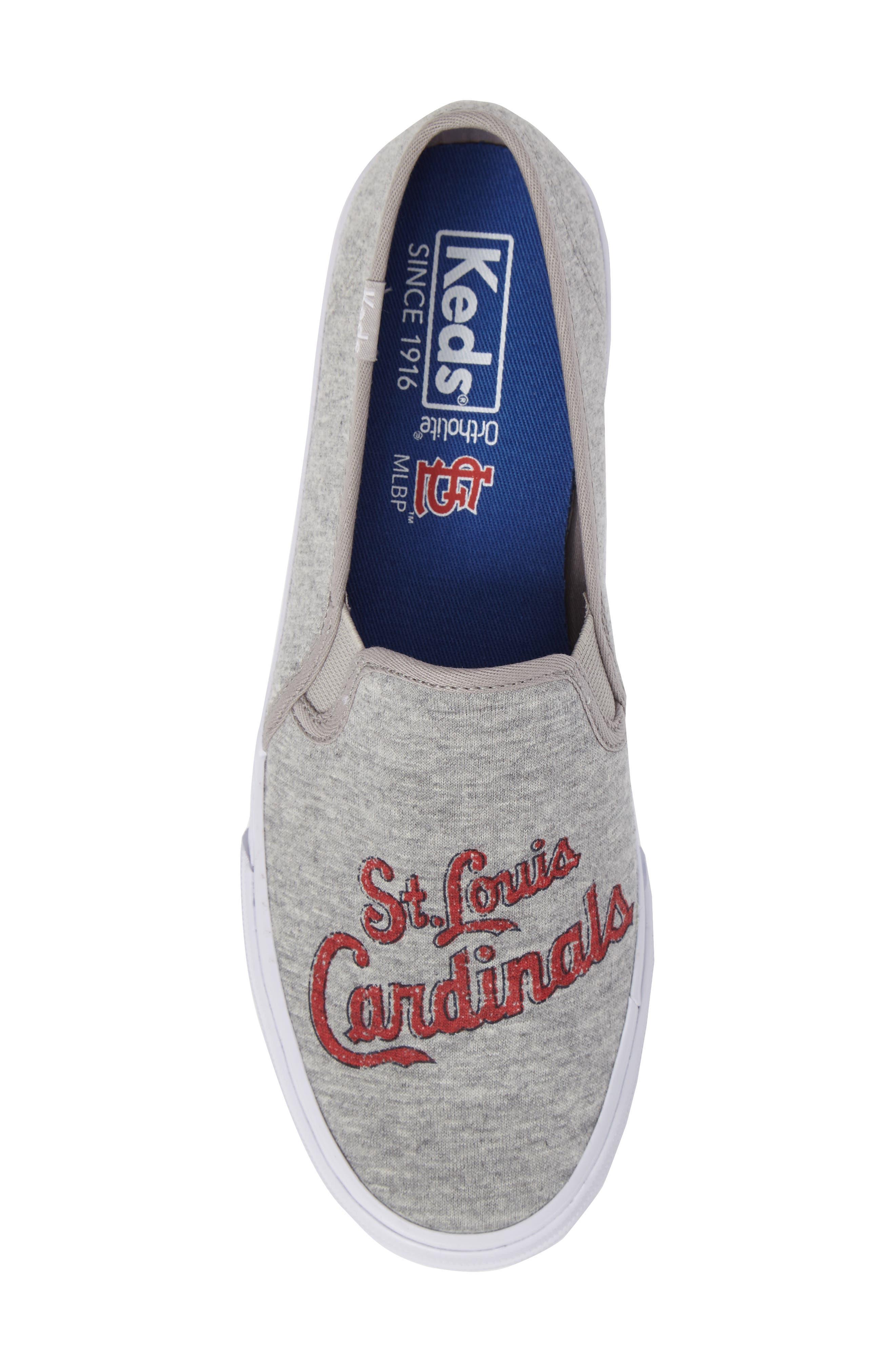 Double Decker Baseball Team Jersey Slip-On Sneaker,                             Alternate thumbnail 5, color,                             050