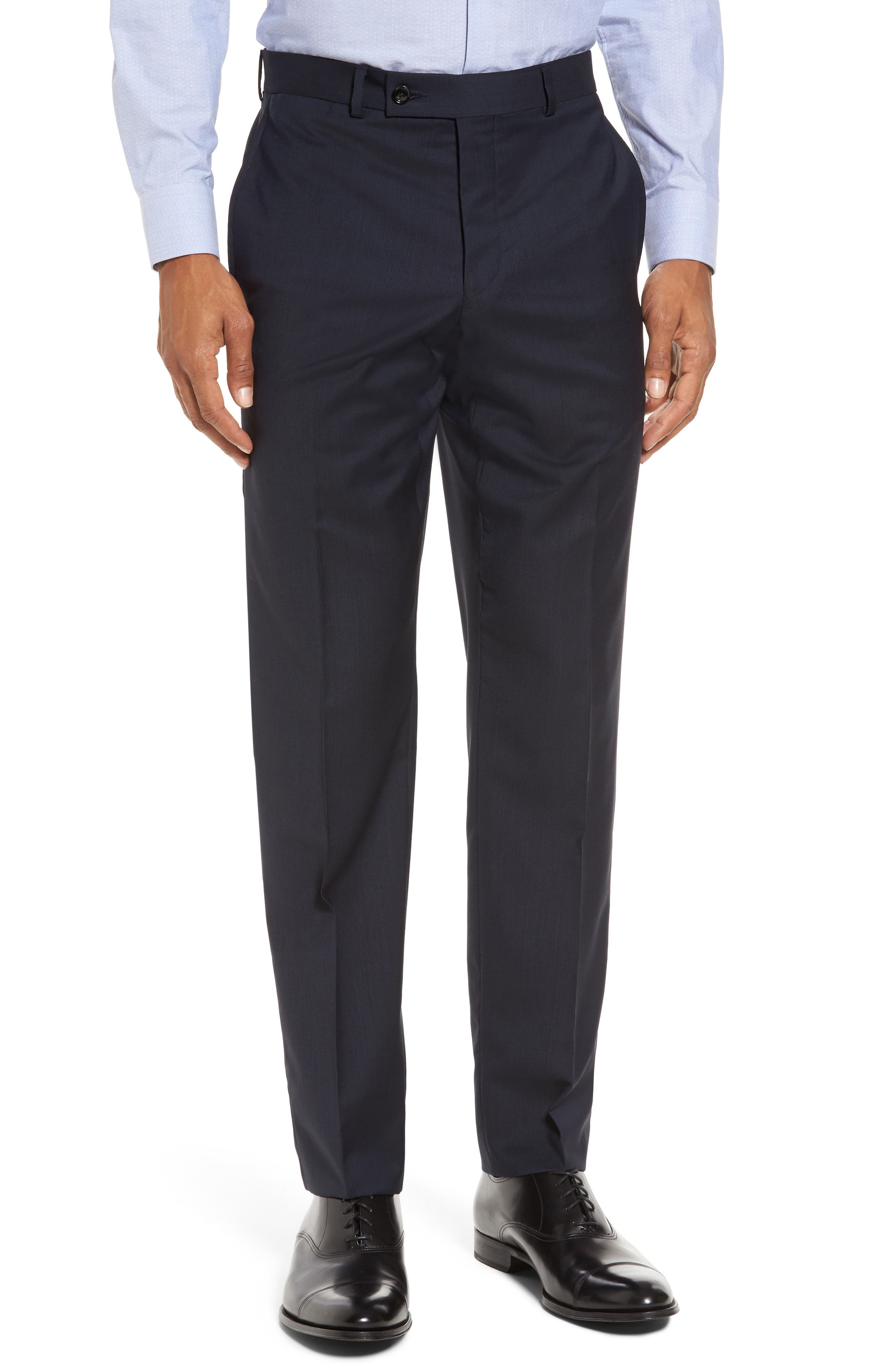 Trim Fit Solid Wool Suit,                             Alternate thumbnail 6, color,