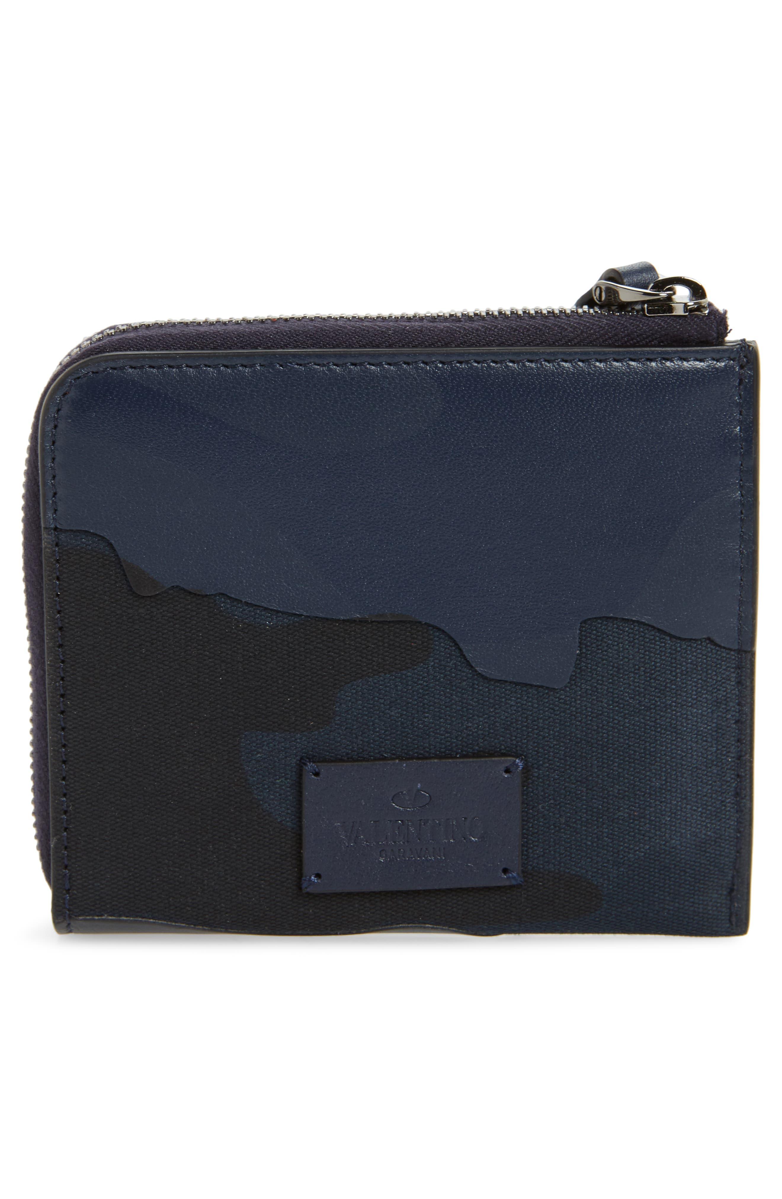 GARAVANI Camo Zip Wallet,                             Alternate thumbnail 3, color,                             MARINE