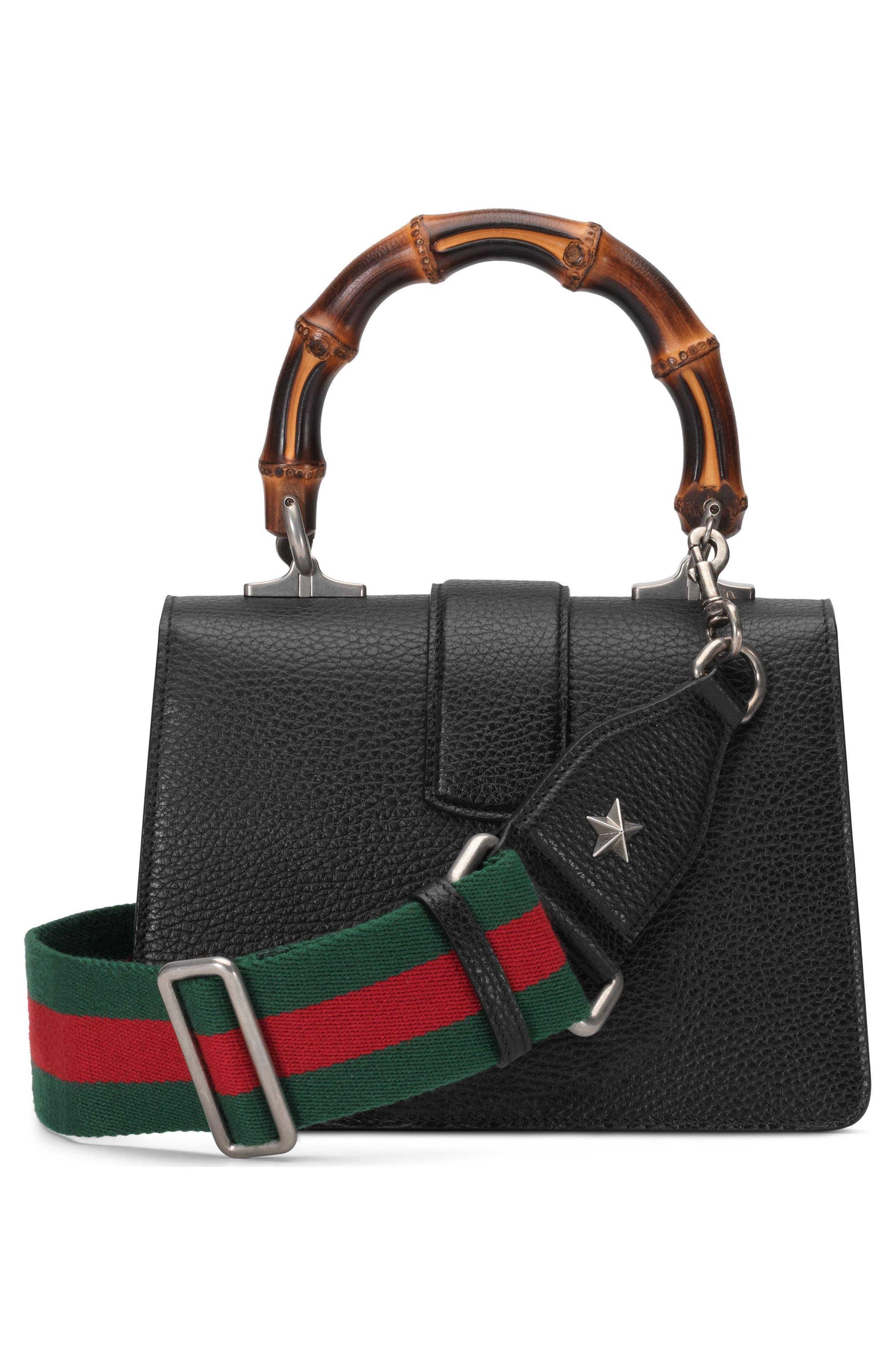 Mini Dionysus Leather Top Handle Satchel,                             Alternate thumbnail 2, color,                             NERO/ VERT RED/ BLACK DIAMOND