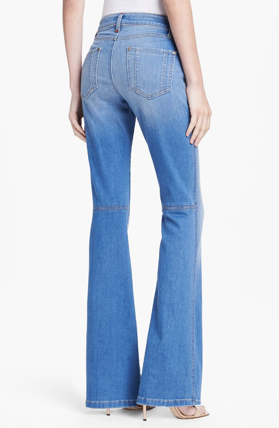 'Stacy' Distressed Bell Bottom Jeans,                             Alternate thumbnail 4, color,                             453
