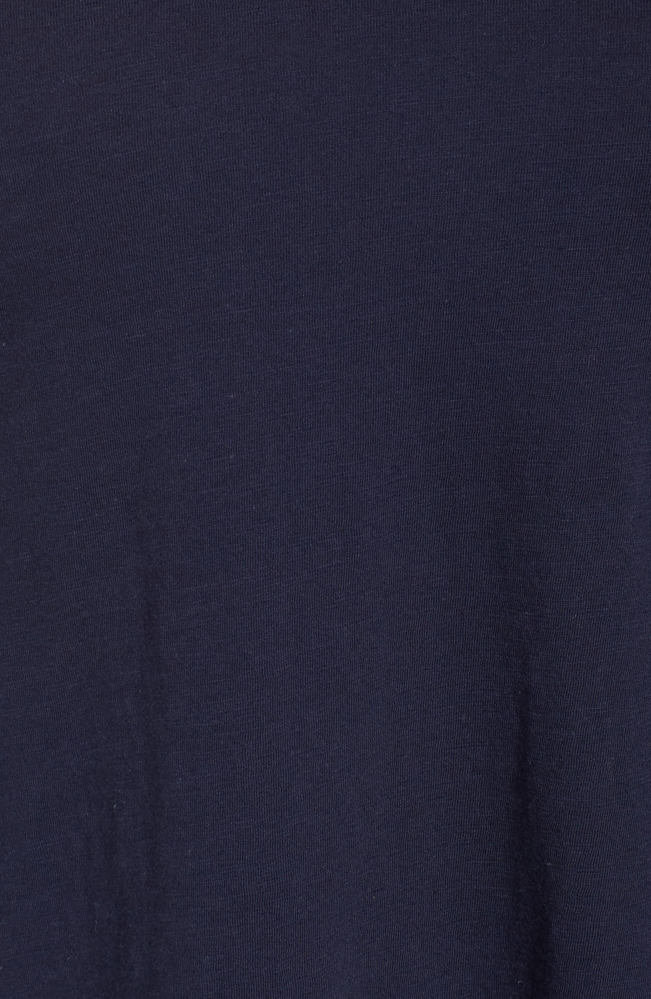Organic Cotton V-Neck Top,                             Alternate thumbnail 34, color,