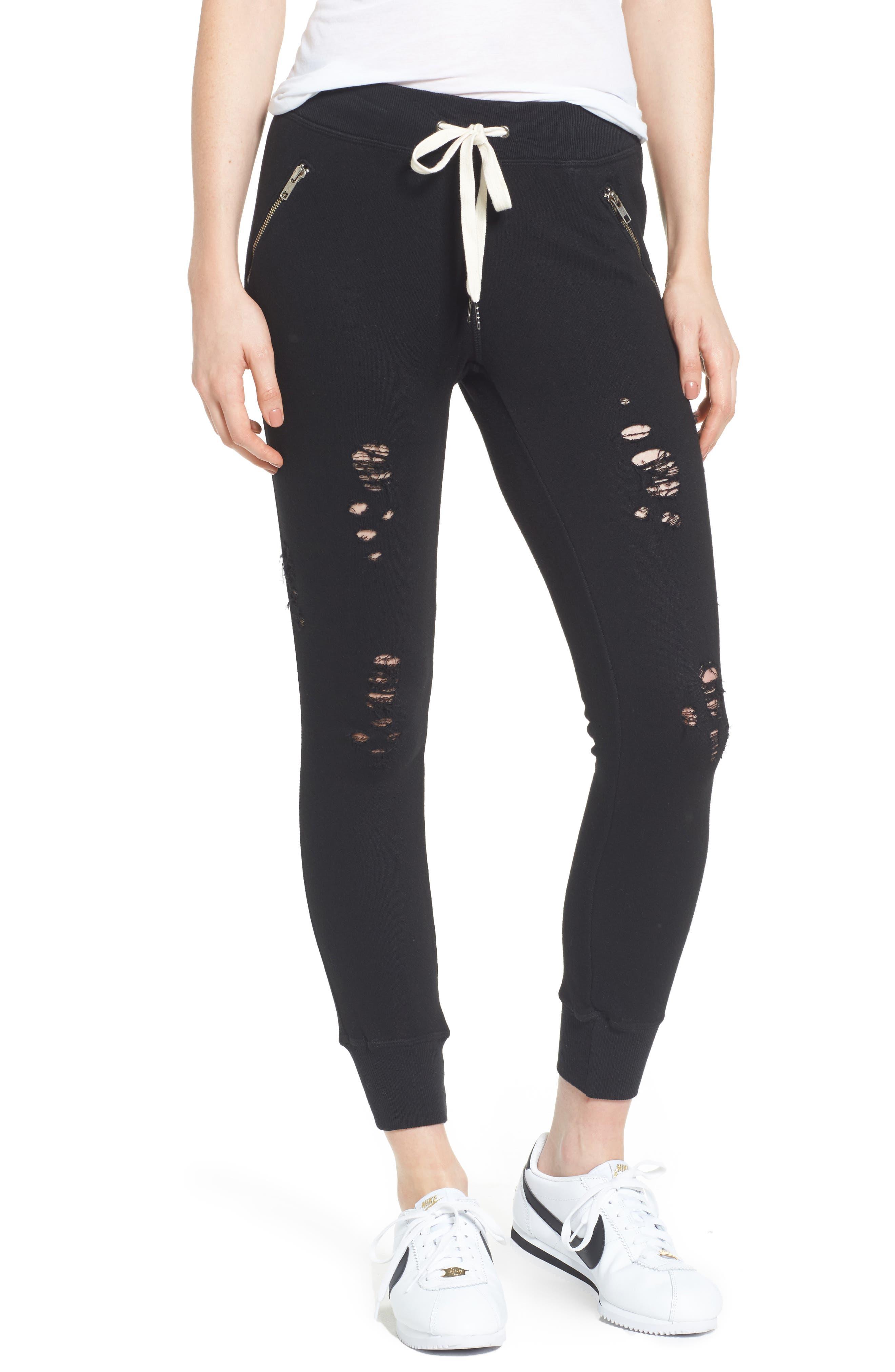 N:PHILANTHROPY Gravity Sweatpants, Main, color, 001