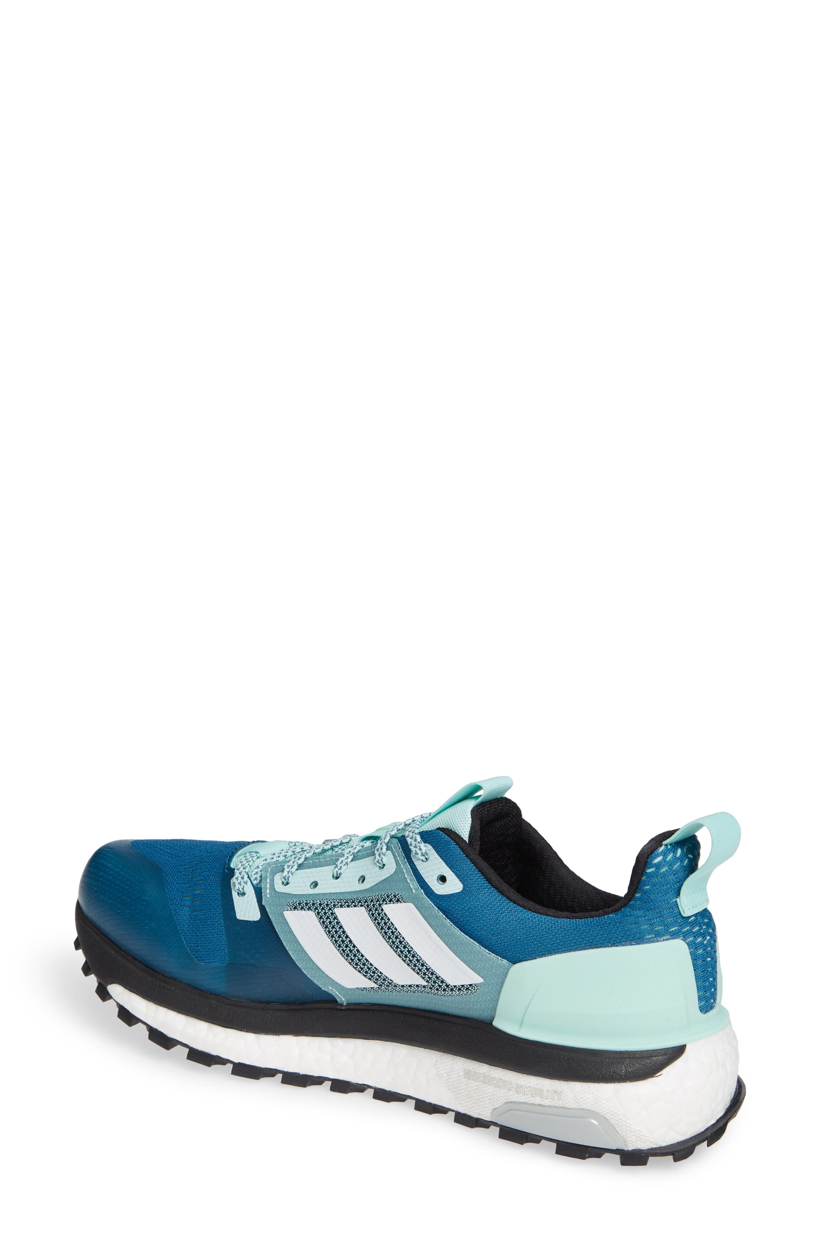 Supernova Trail Running Shoe,                             Alternate thumbnail 2, color,                             REAL TEAL/ WHITE/ CLEAR MINT