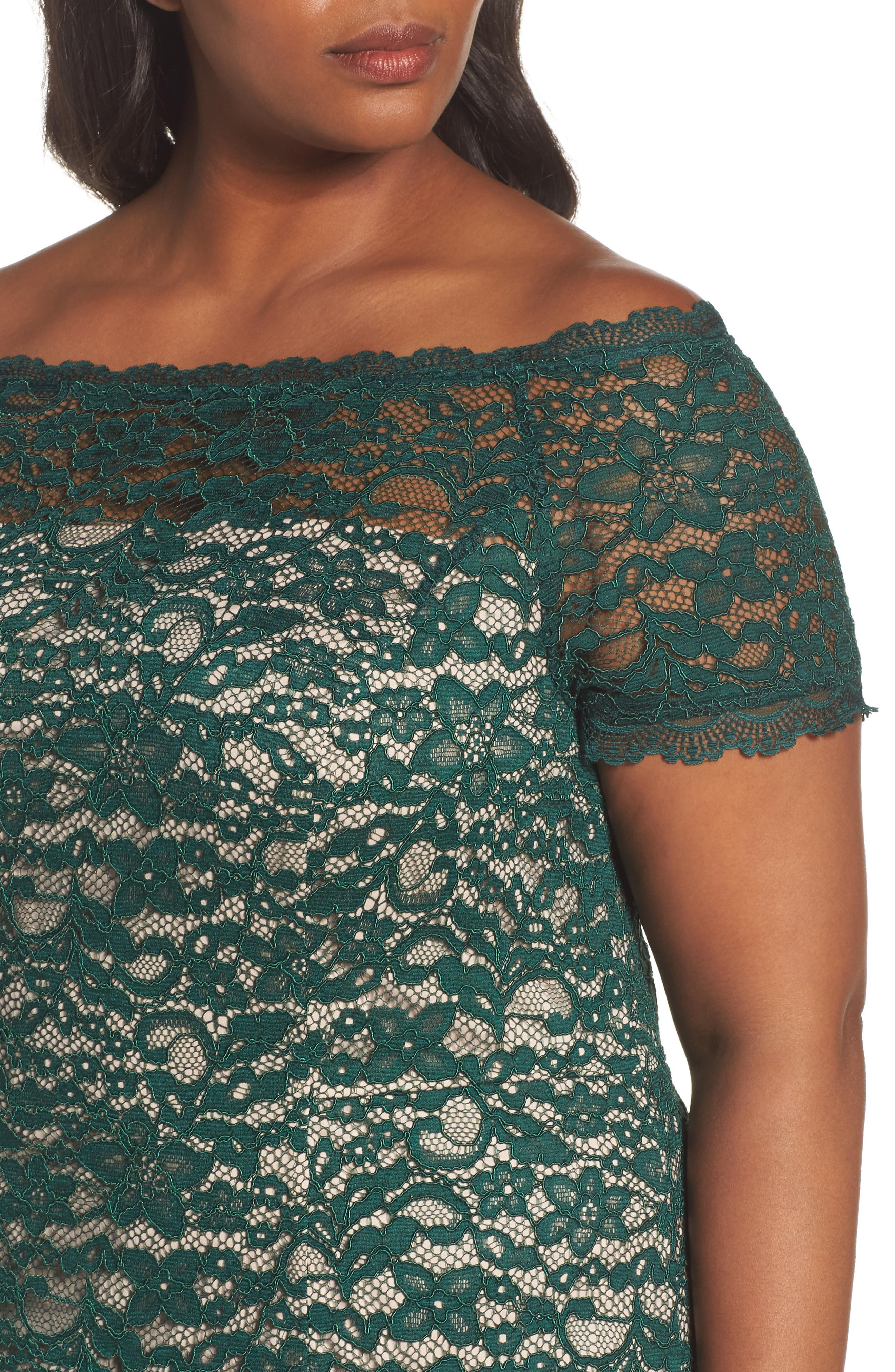 Off the Shoulder Lace Sheath Dress,                             Alternate thumbnail 4, color,                             303