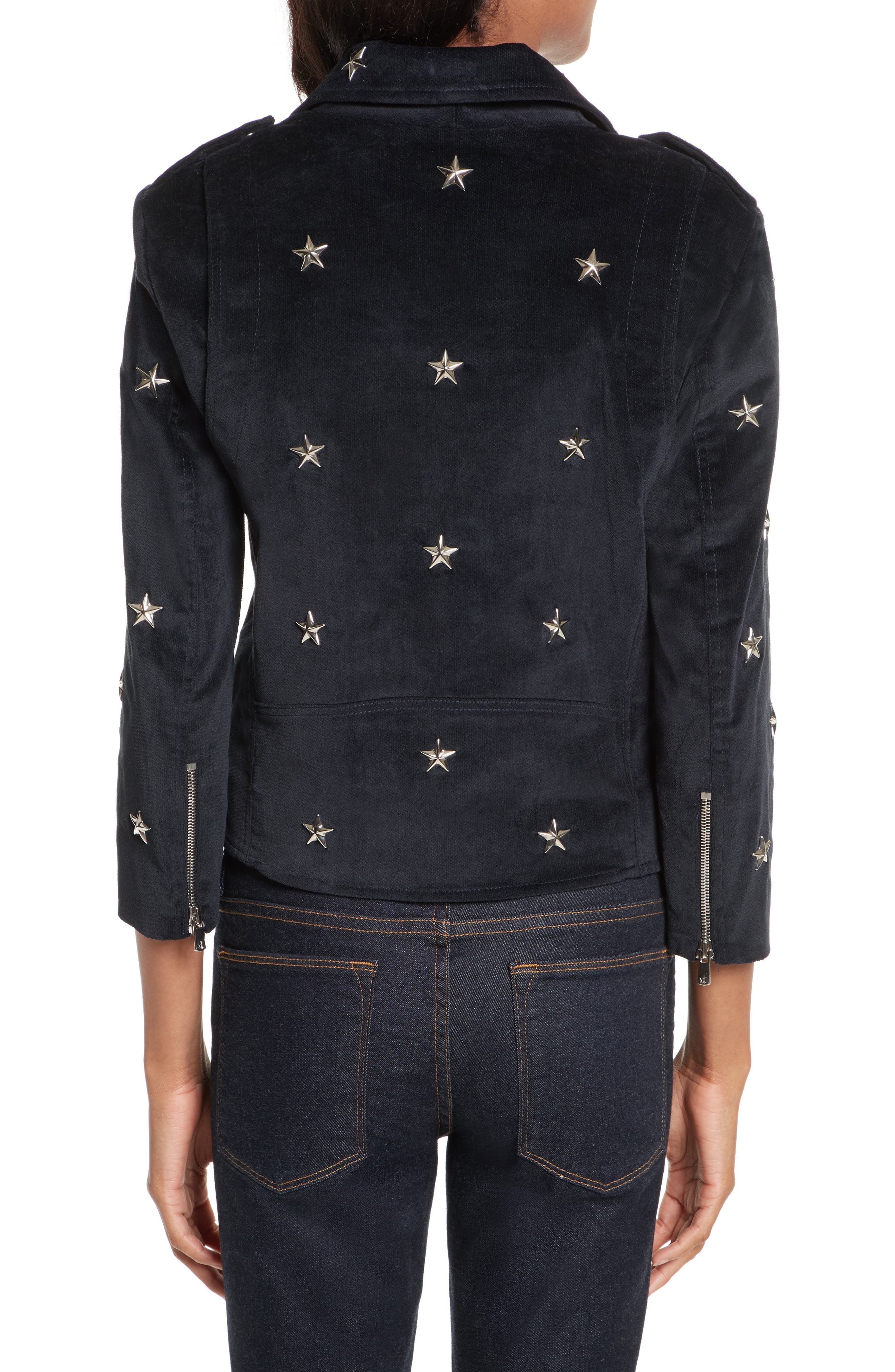Wes Star Stud Moto Jacket,                             Alternate thumbnail 2, color,                             410