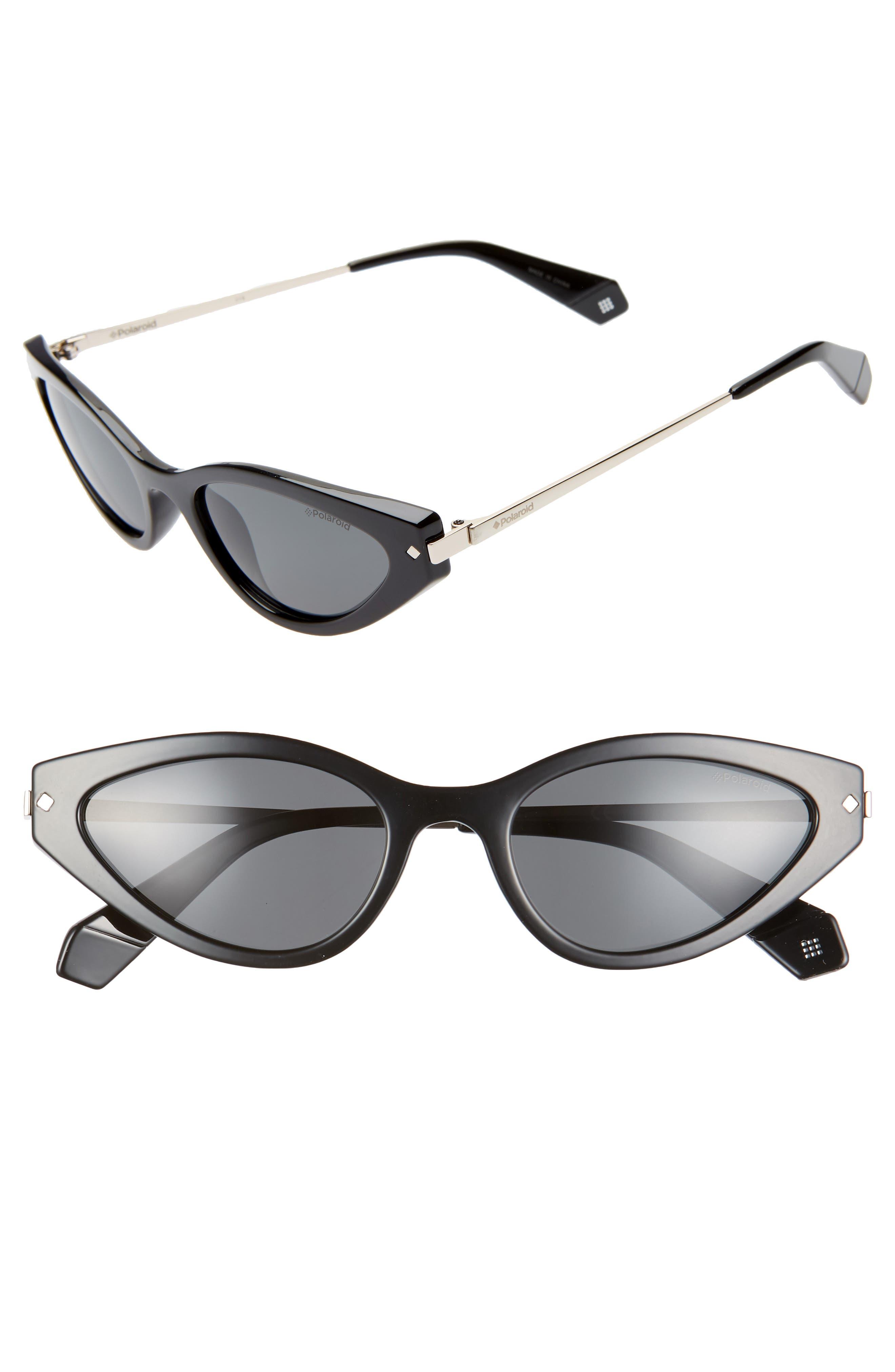 Polaroid 5m Polarized Cat Eye Sunglasses - Black