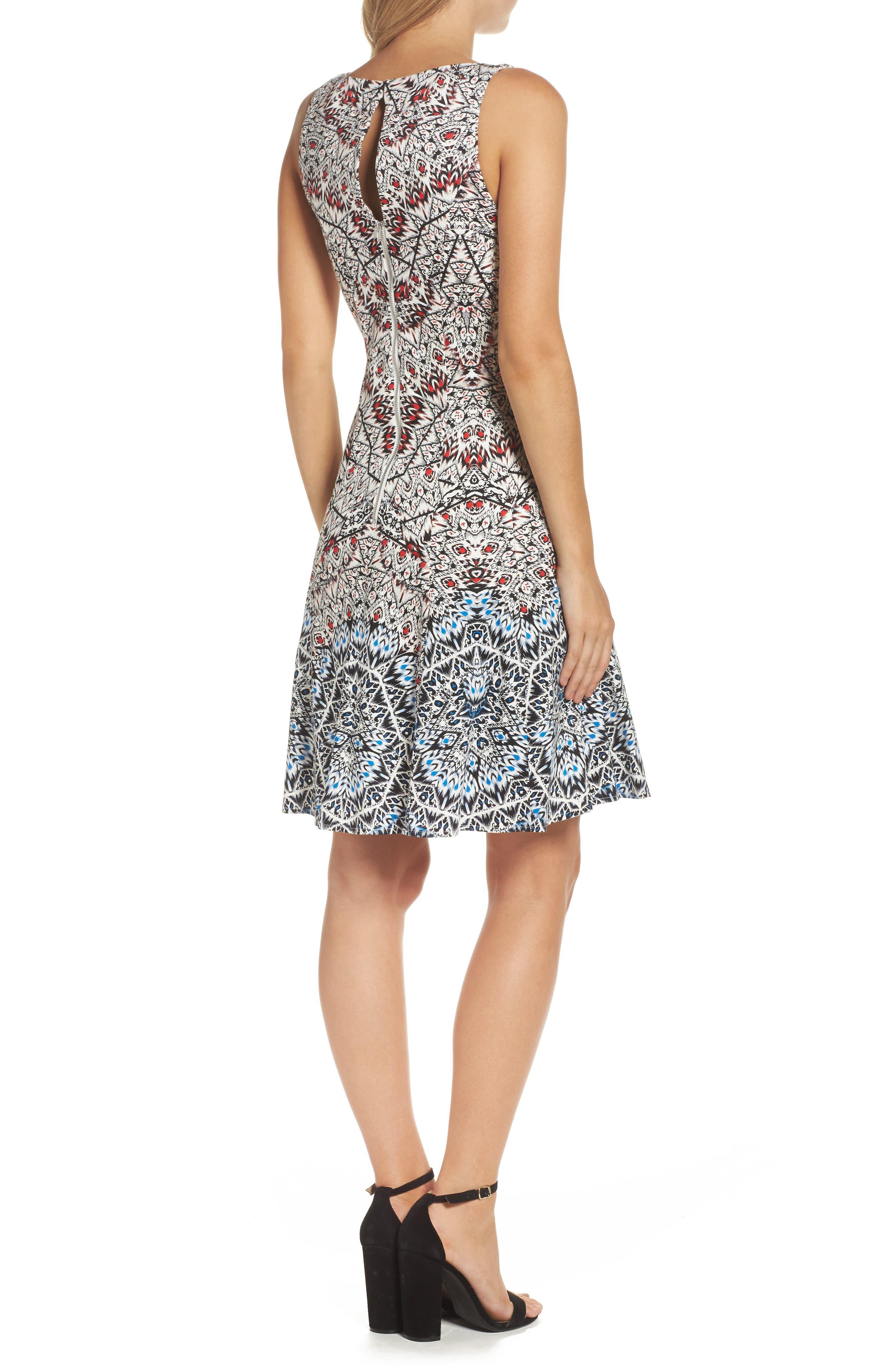 Fit & Flare Dress,                             Alternate thumbnail 2, color,                             400