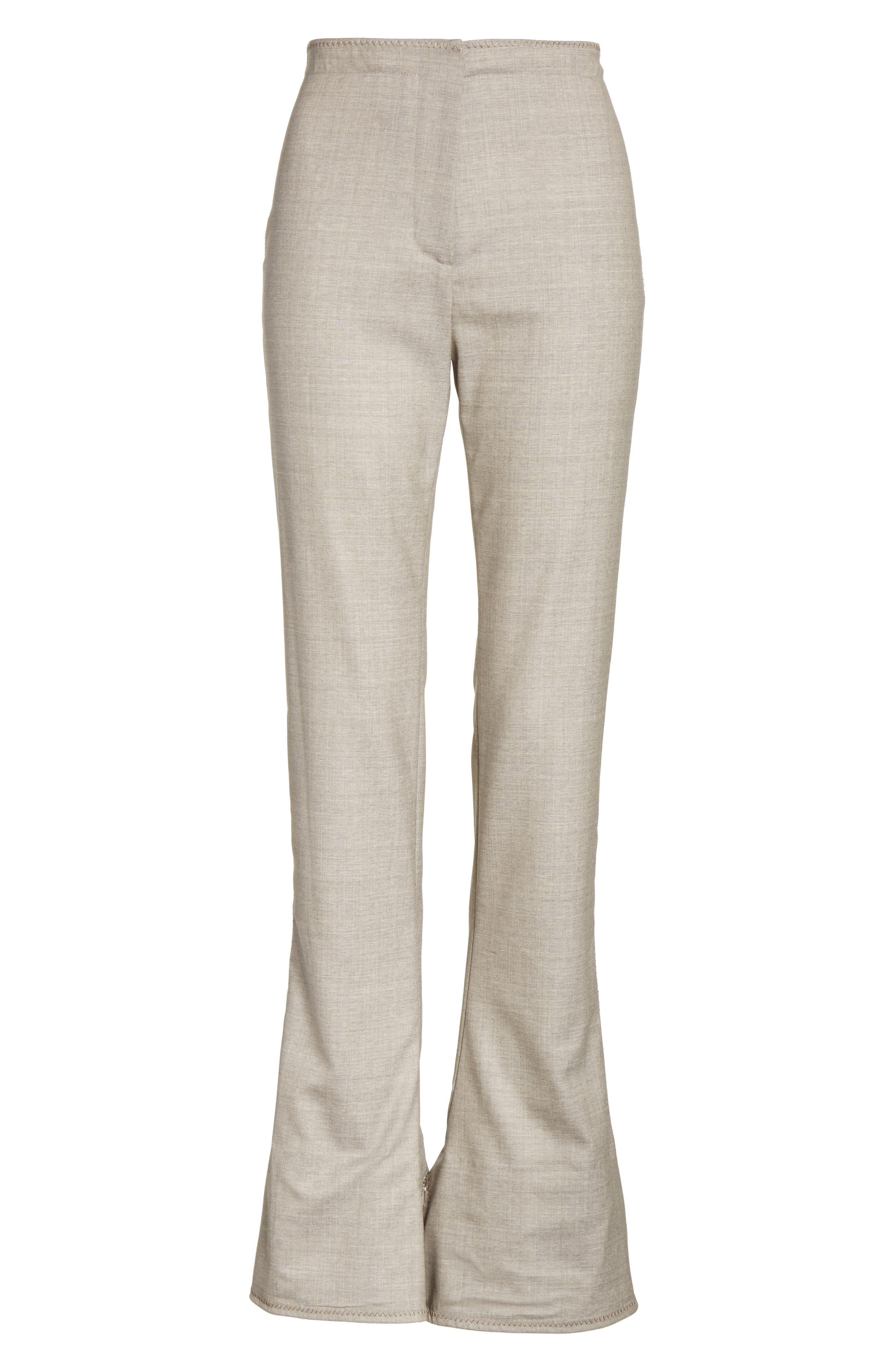 Toni Fluid Wide Leg Wool Pants,                             Alternate thumbnail 6, color,                             250