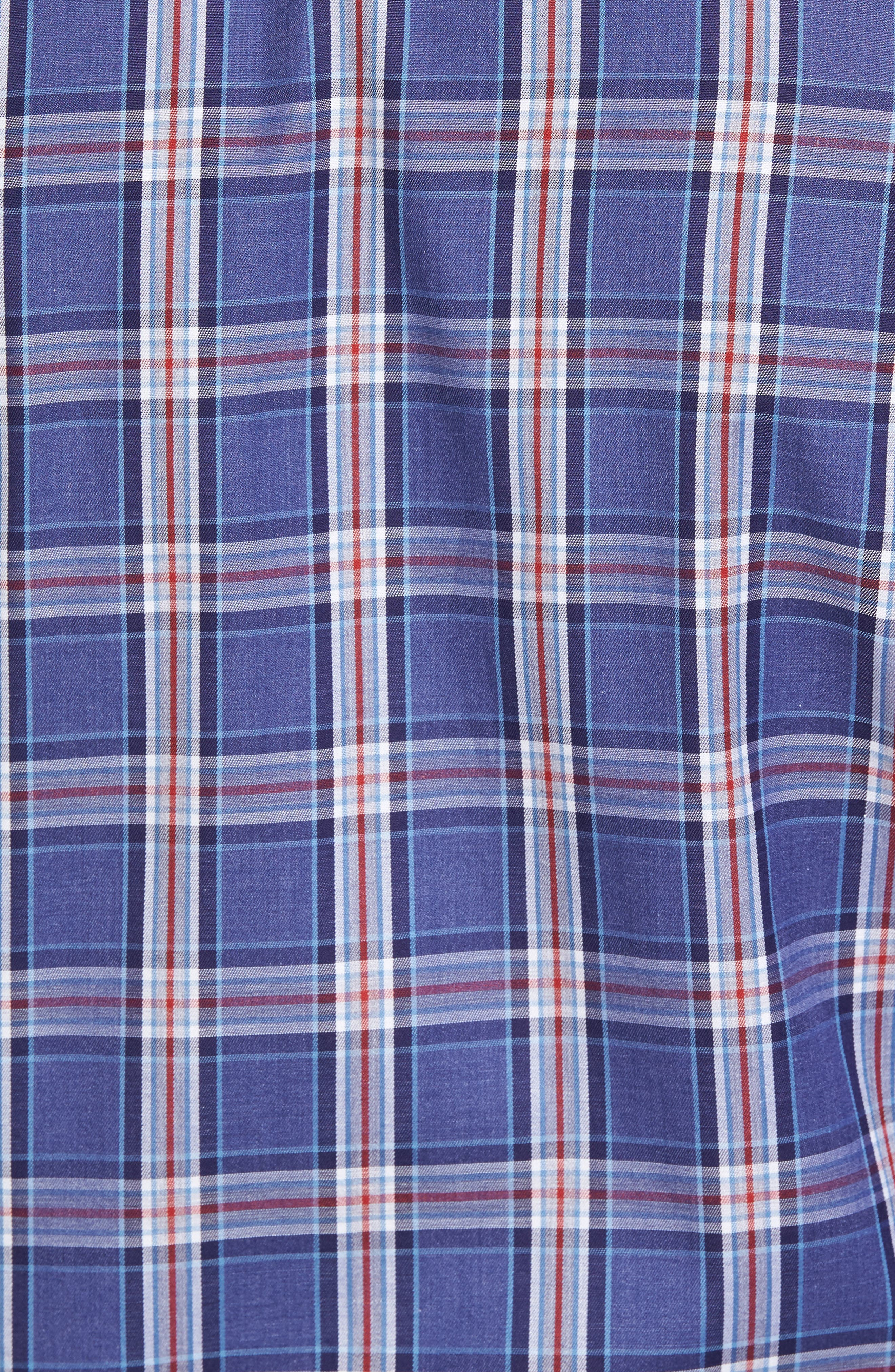 Paul&Shark Plaid Sport Shirt,                             Alternate thumbnail 5, color,                             400