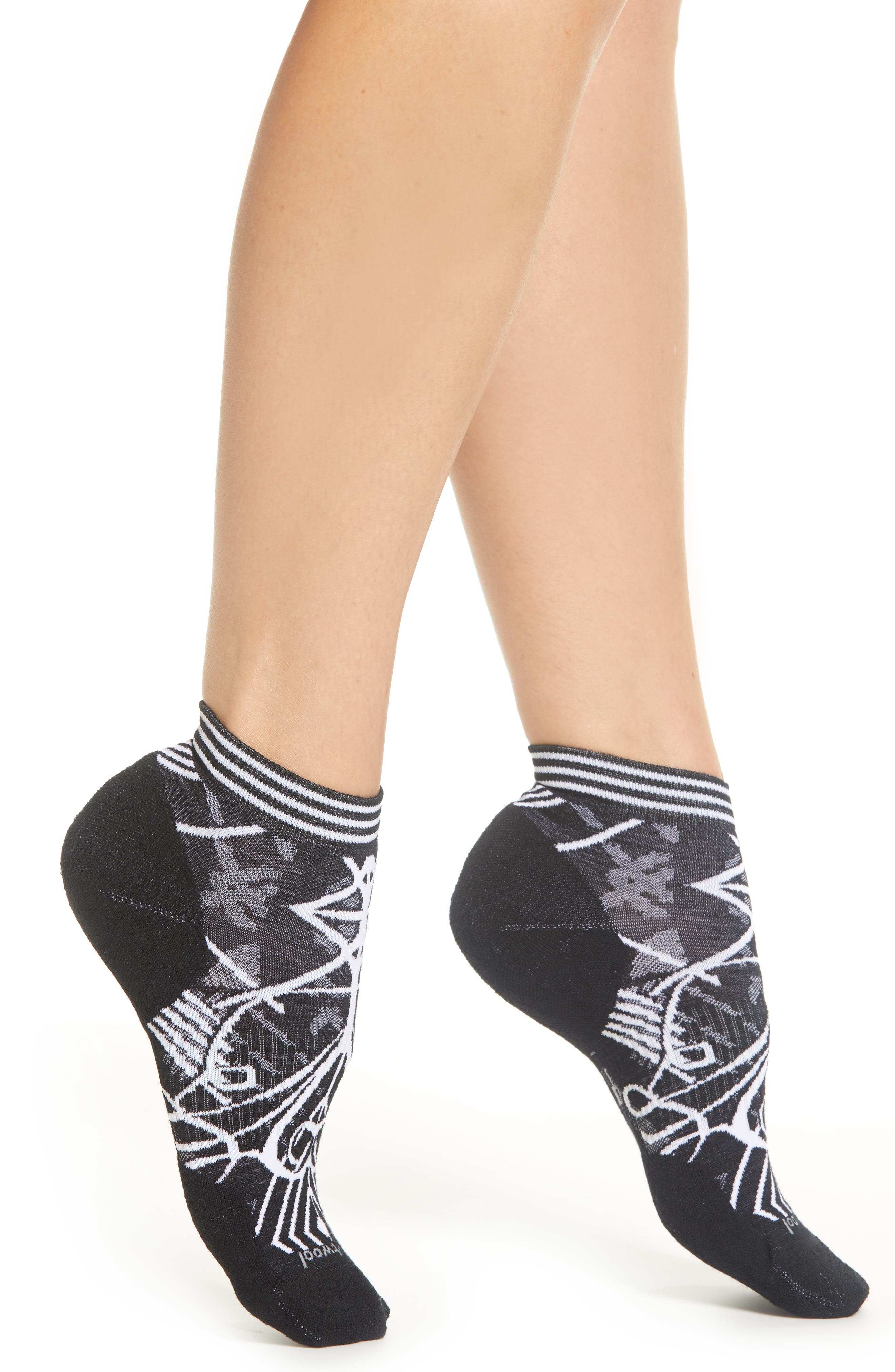 Skyline Mini Boot Socks,                             Main thumbnail 1, color,                             BLACK