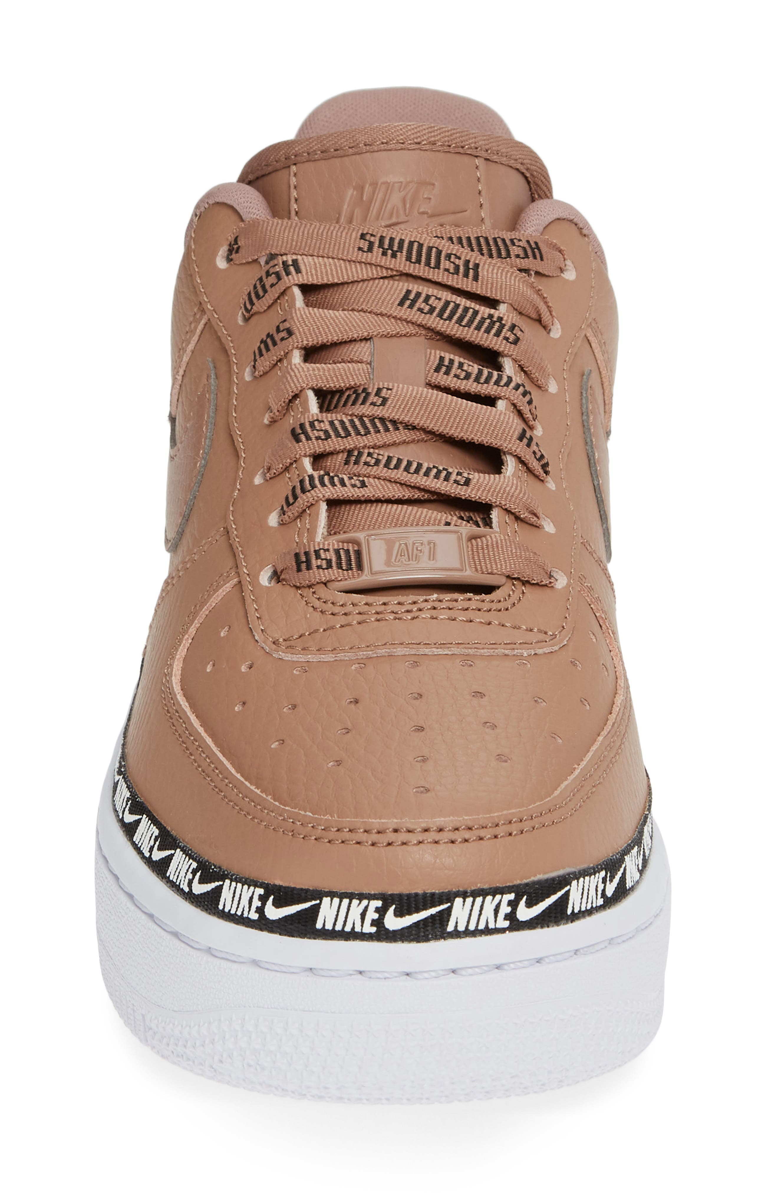 Air Force 1 '07 SE Premium Sneaker,                             Alternate thumbnail 4, color,                             DESERT DUST/ BLACK/ WHITE