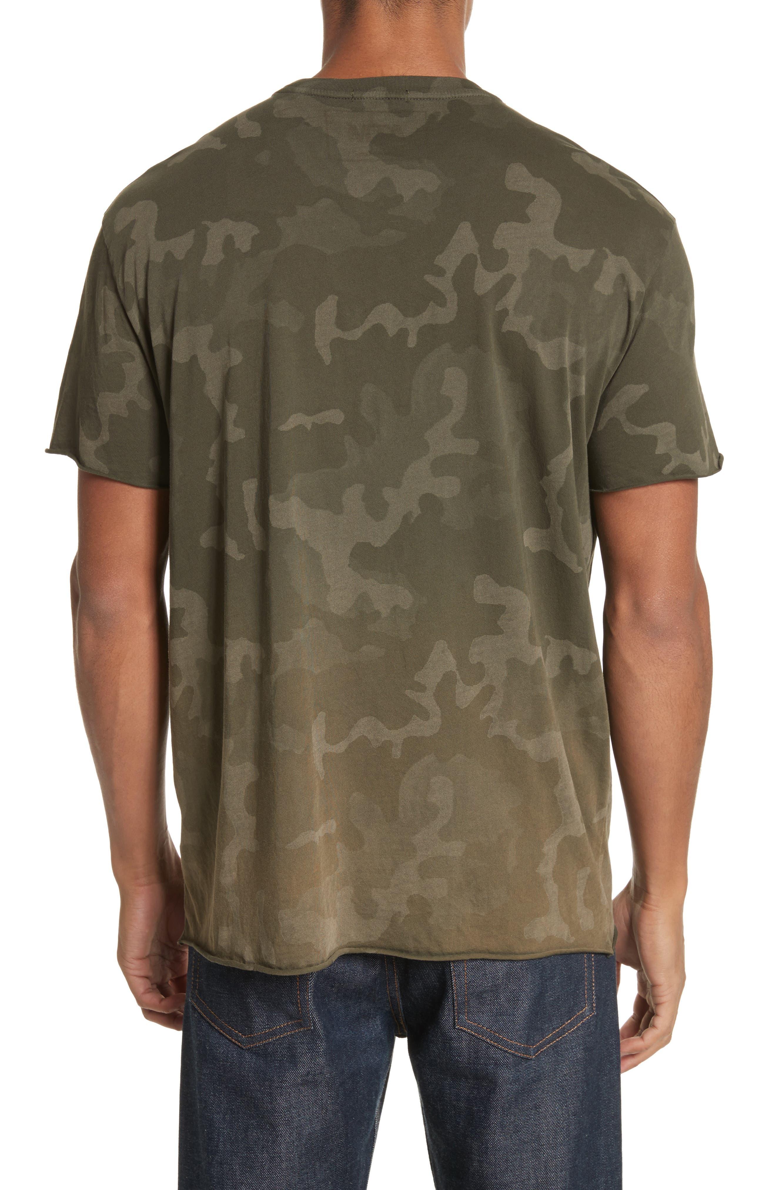 Camo Print Crewneck T-Shirt,                             Alternate thumbnail 2, color,                             341