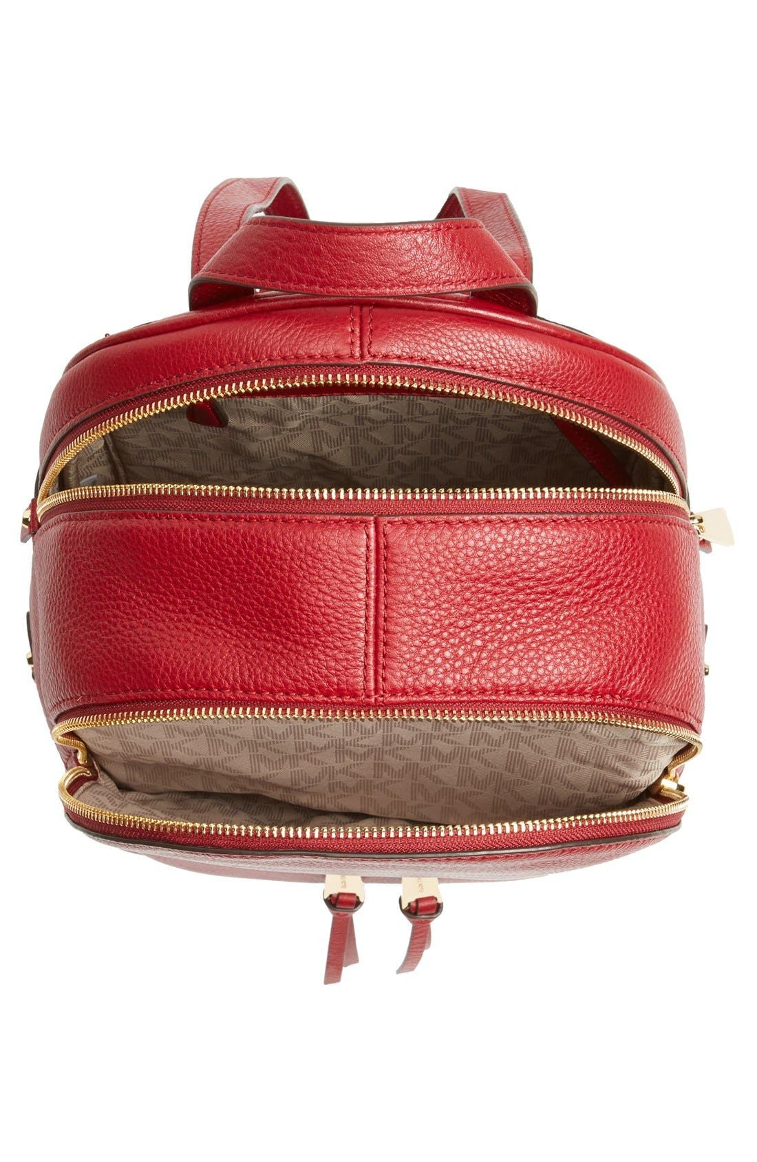 'Extra Small Rhea Zip' Leather Backpack,                             Alternate thumbnail 31, color,