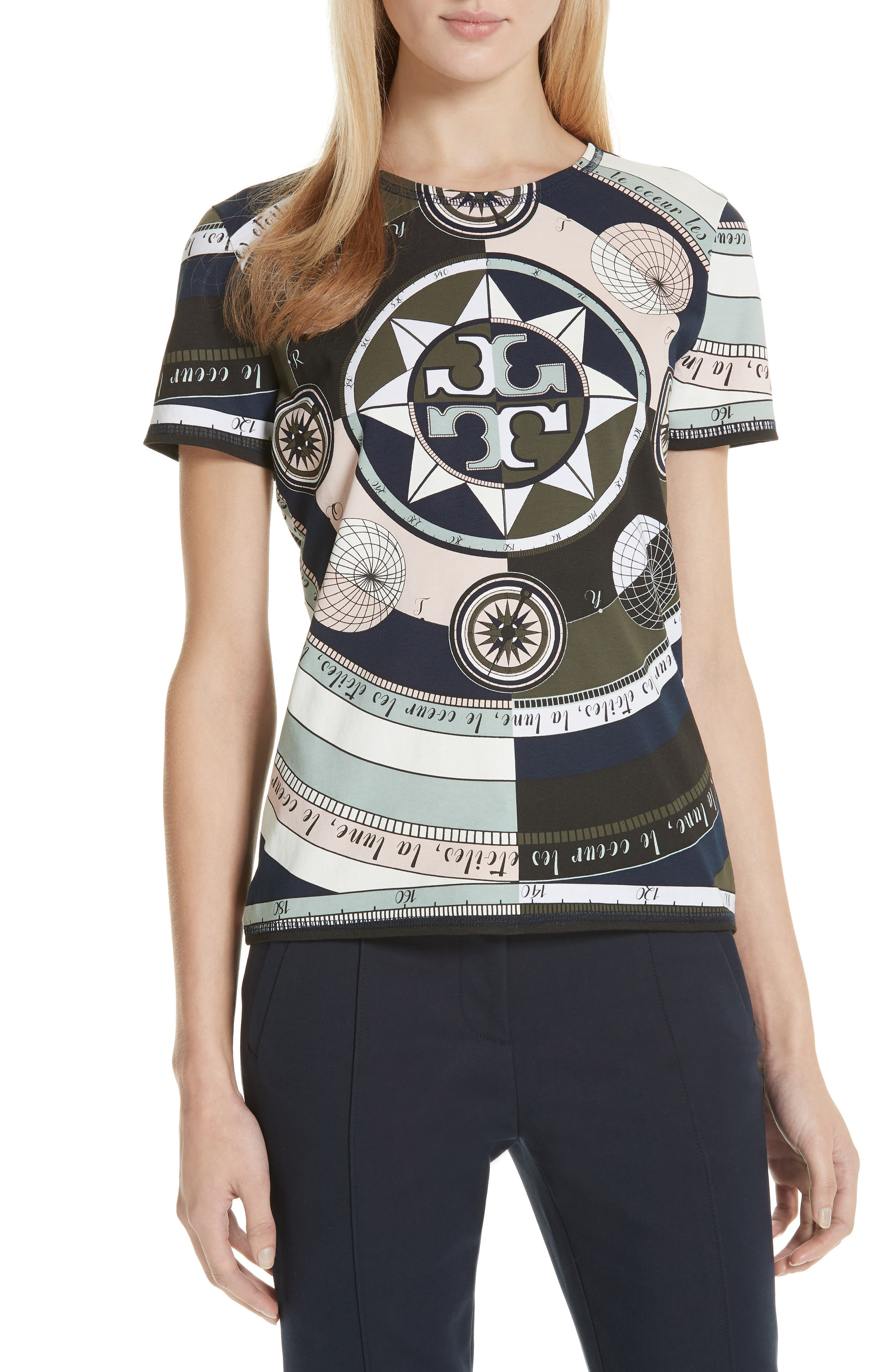 Louis Octagonal-Print T-Shirt in Navyconstellation