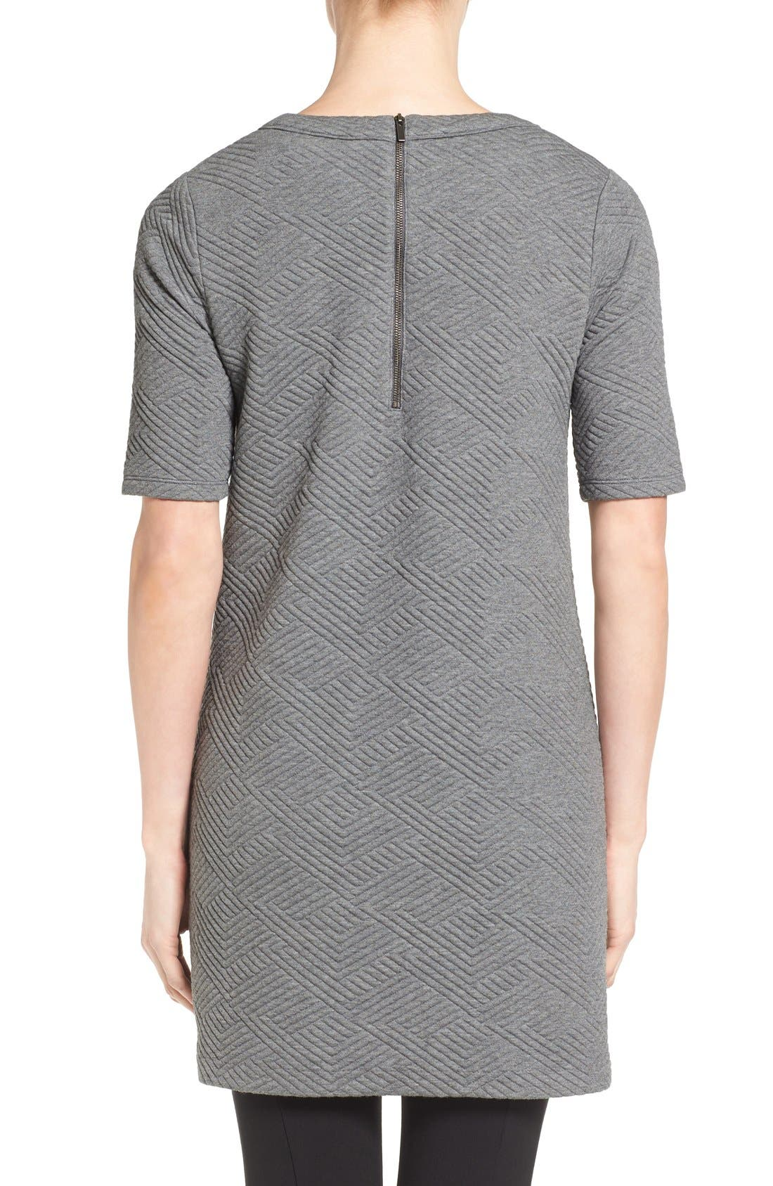 Textured Elbow Sleeve Tunic Dress,                             Alternate thumbnail 10, color,                             030