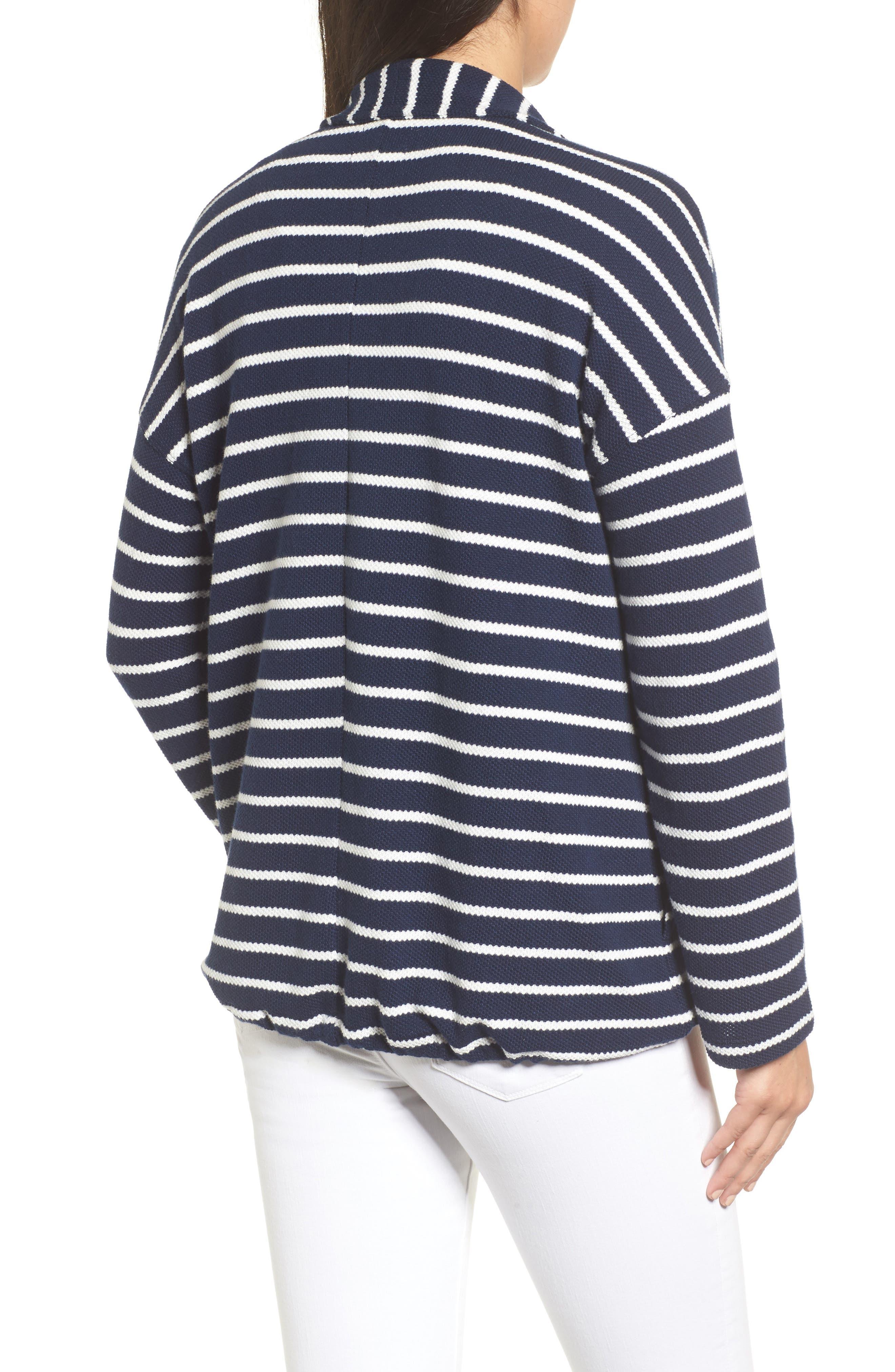 Stripe Knit Drawsting Jacket,                             Alternate thumbnail 2, color,                             410