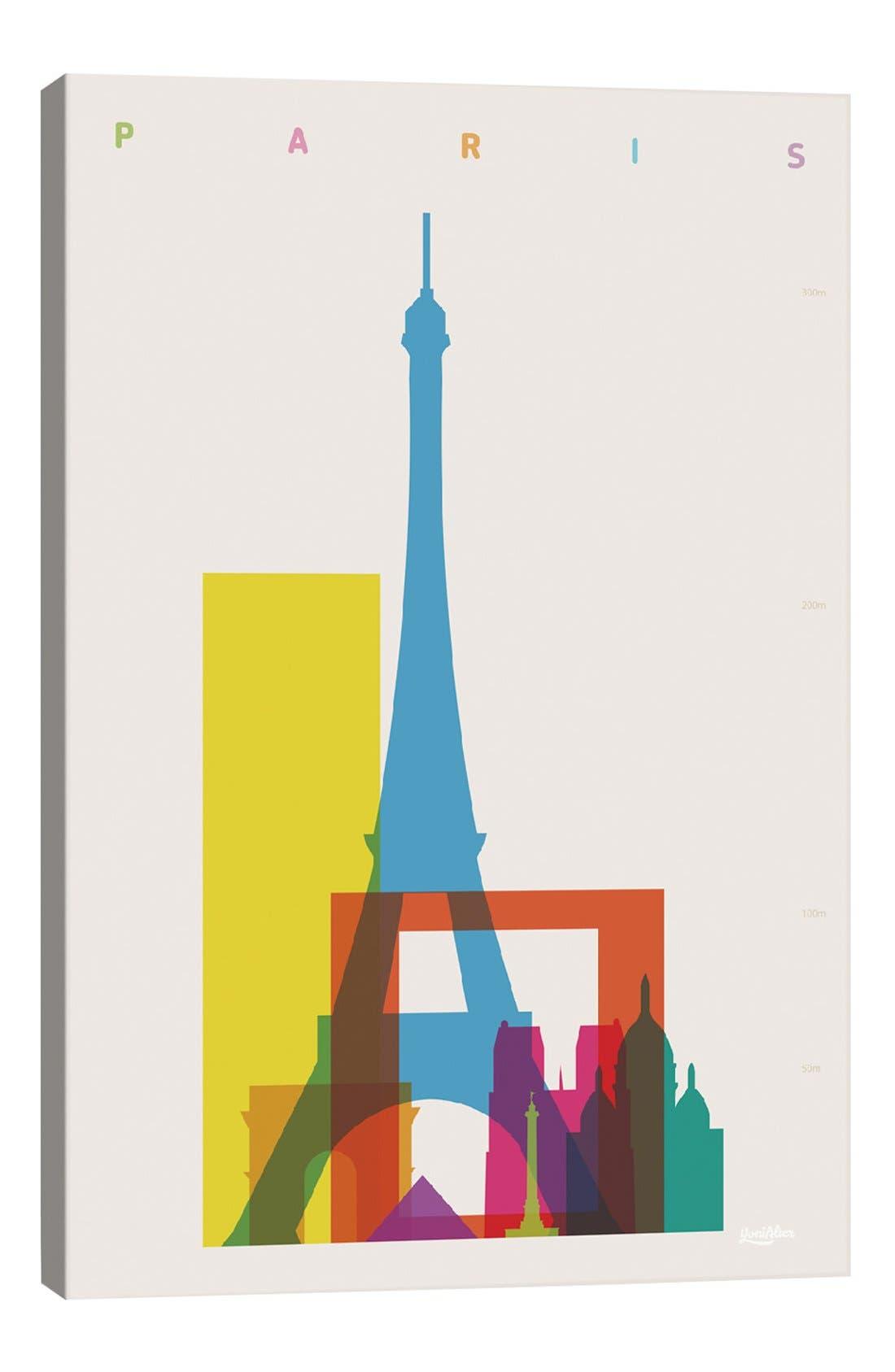 'Paris' Giclée Print Canvas Art,                             Main thumbnail 1, color,                             100