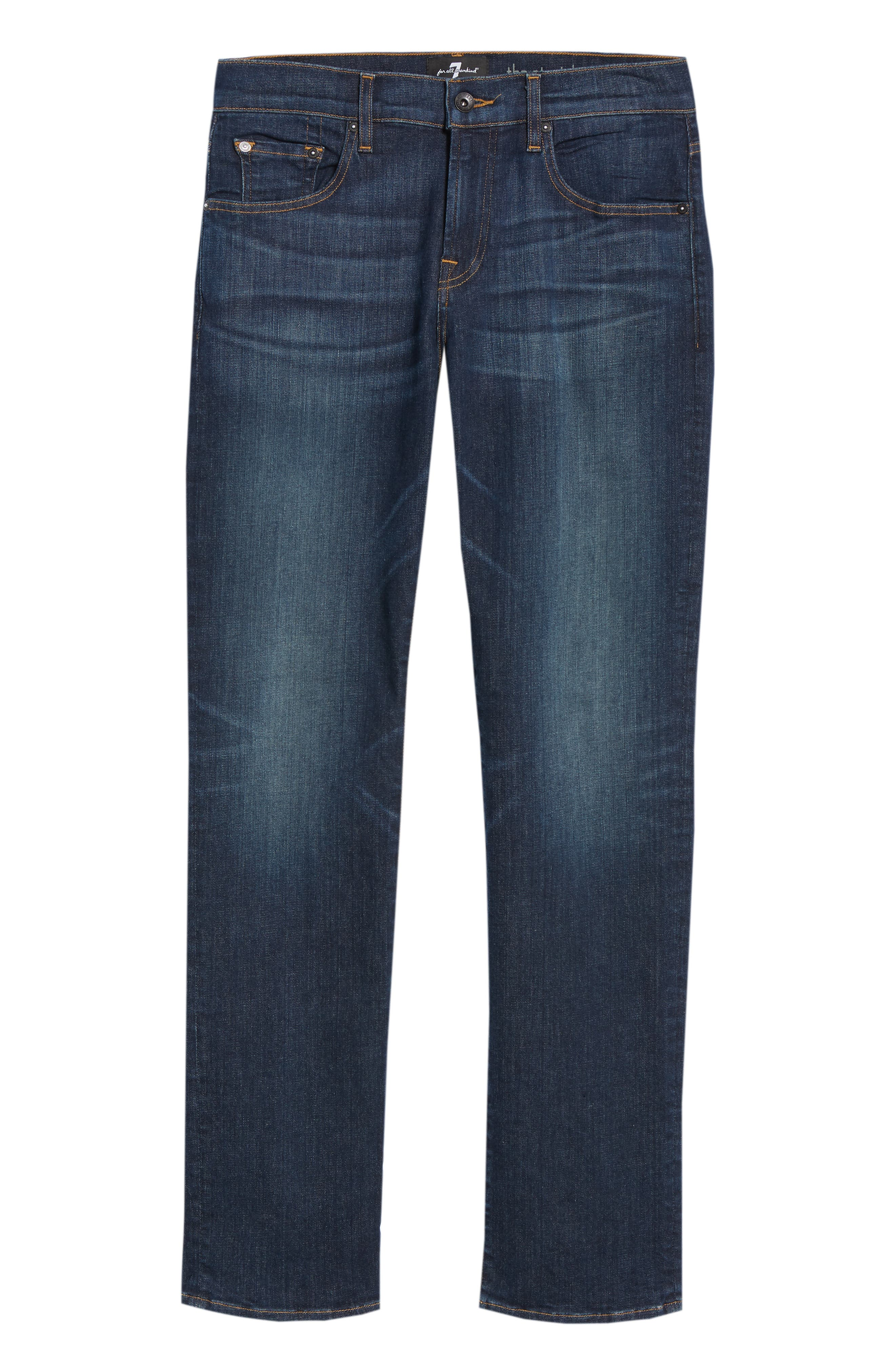 The Straight Luxe Sport Straight Leg Jeans,                             Alternate thumbnail 6, color,                             404