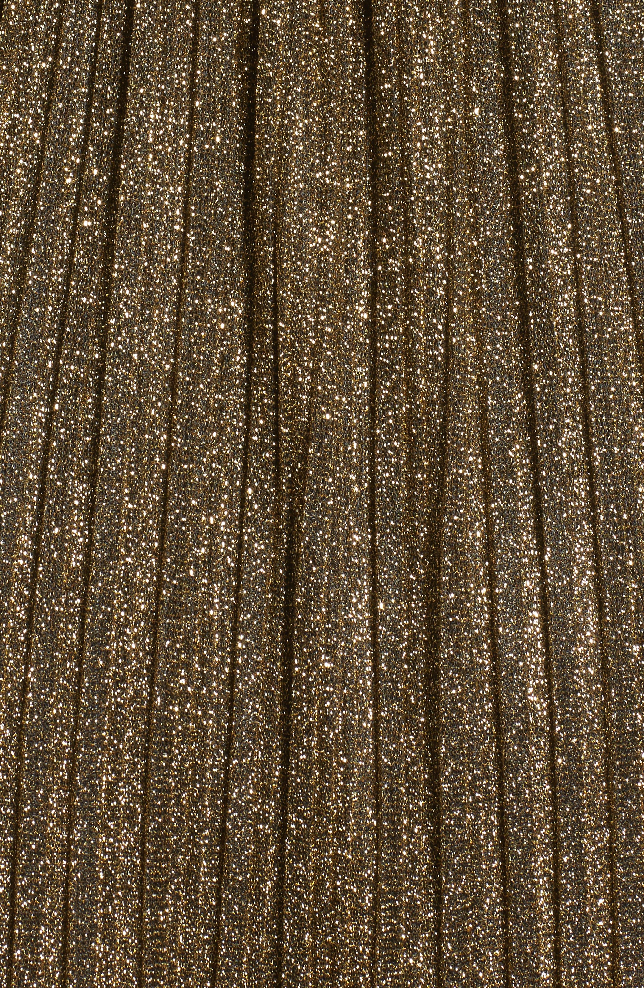 Metallic Tank Dress,                             Alternate thumbnail 5, color,                             002
