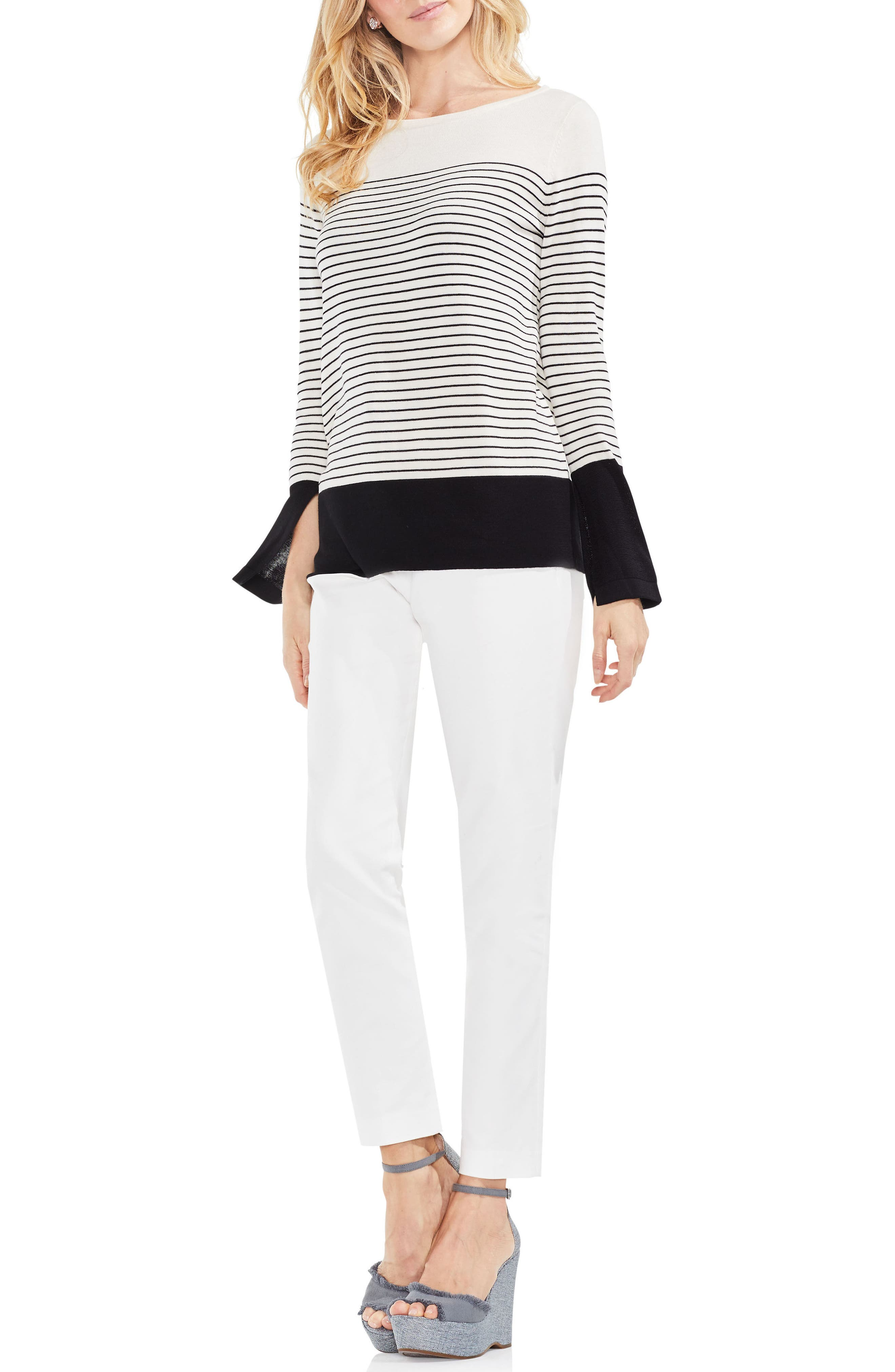 Colorblock Stripe Sweater,                             Alternate thumbnail 4, color,                             108
