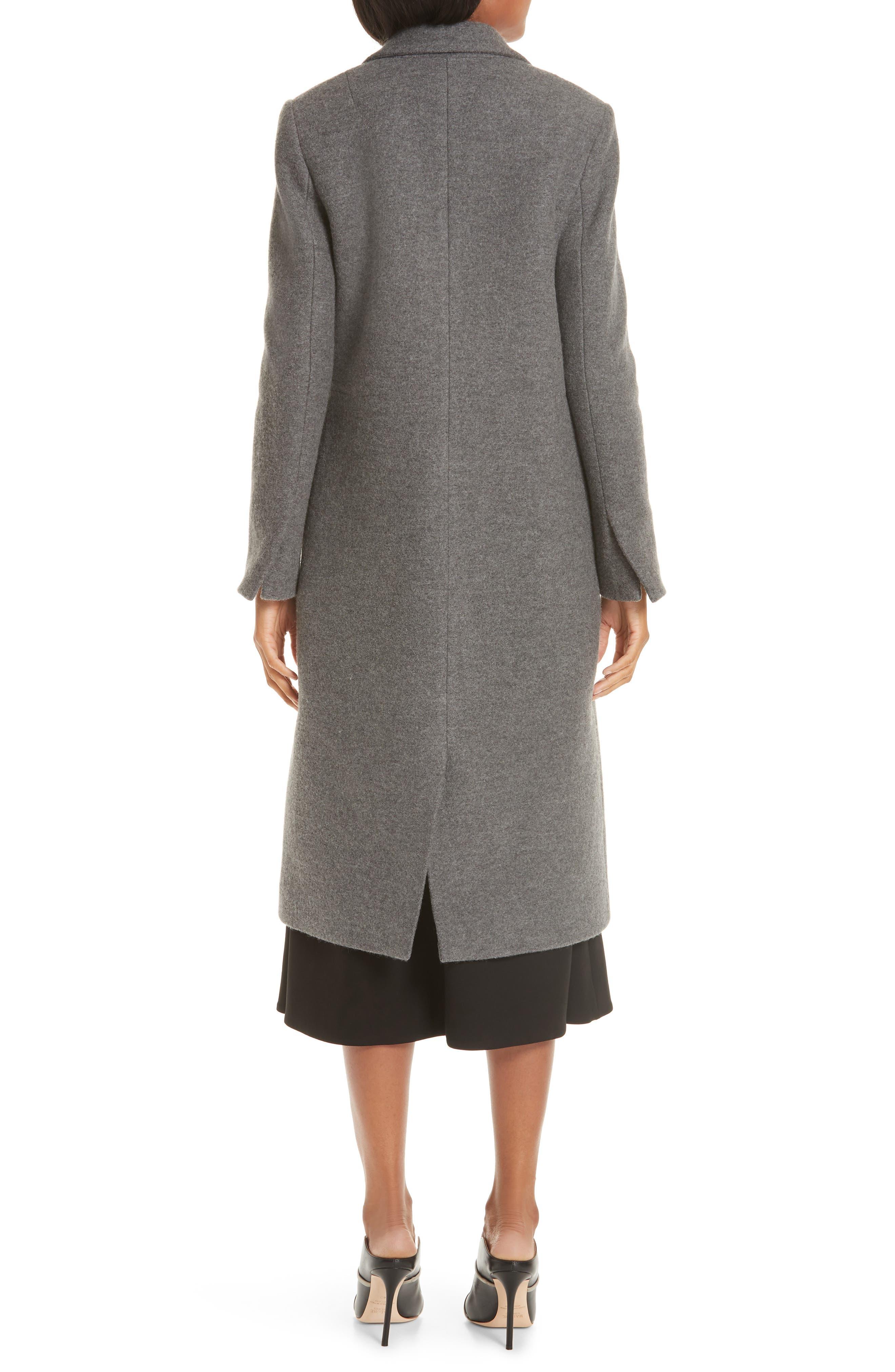 One Button Wool Coat,                             Alternate thumbnail 2, color,                             GREY MELANGE