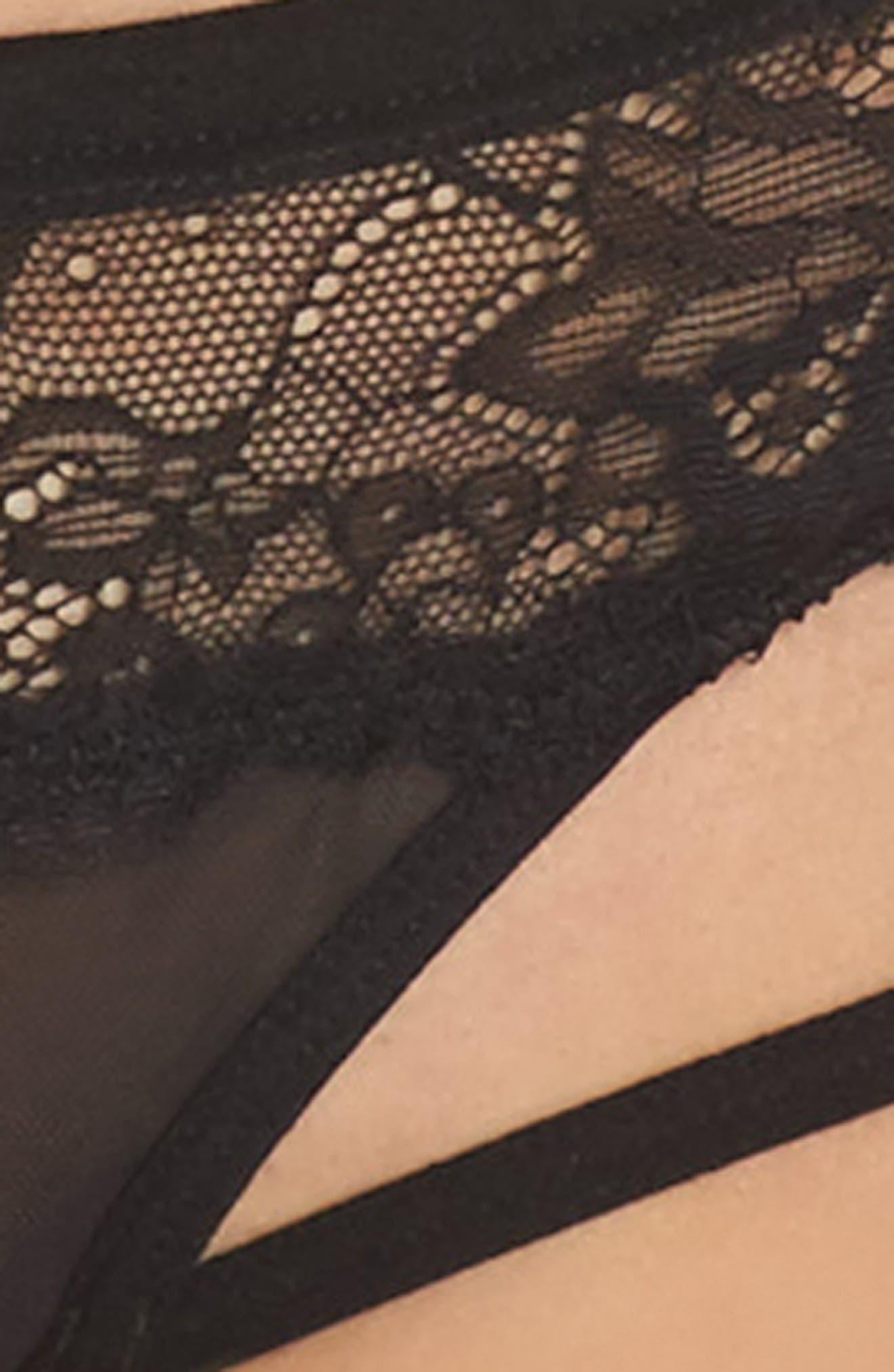 Lucy Open Gusset Briefs,                             Alternate thumbnail 5, color,                             BLACK