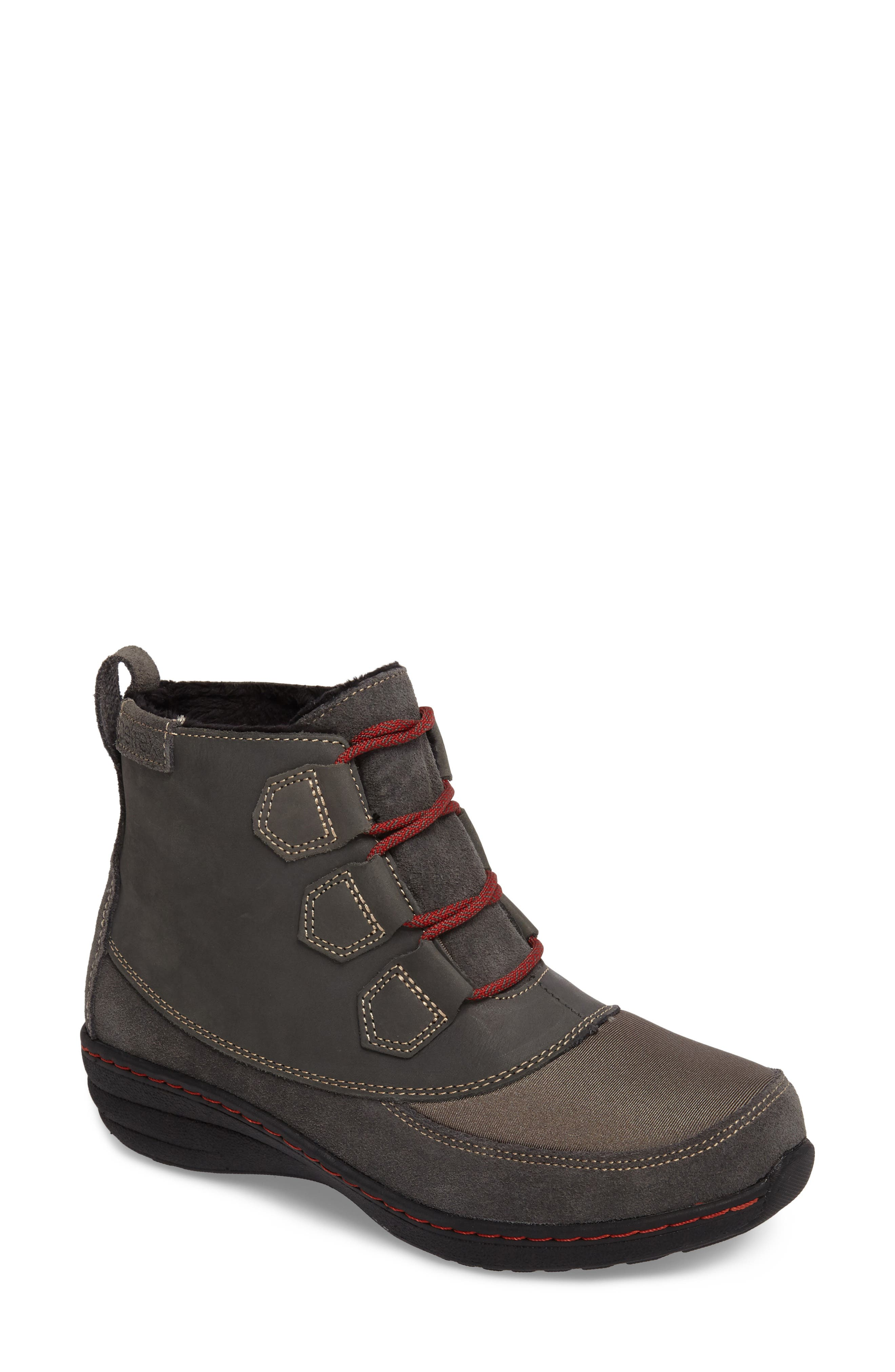 Berries Ankle Boot,                         Main,                         color, GREYBERRY LEATHER