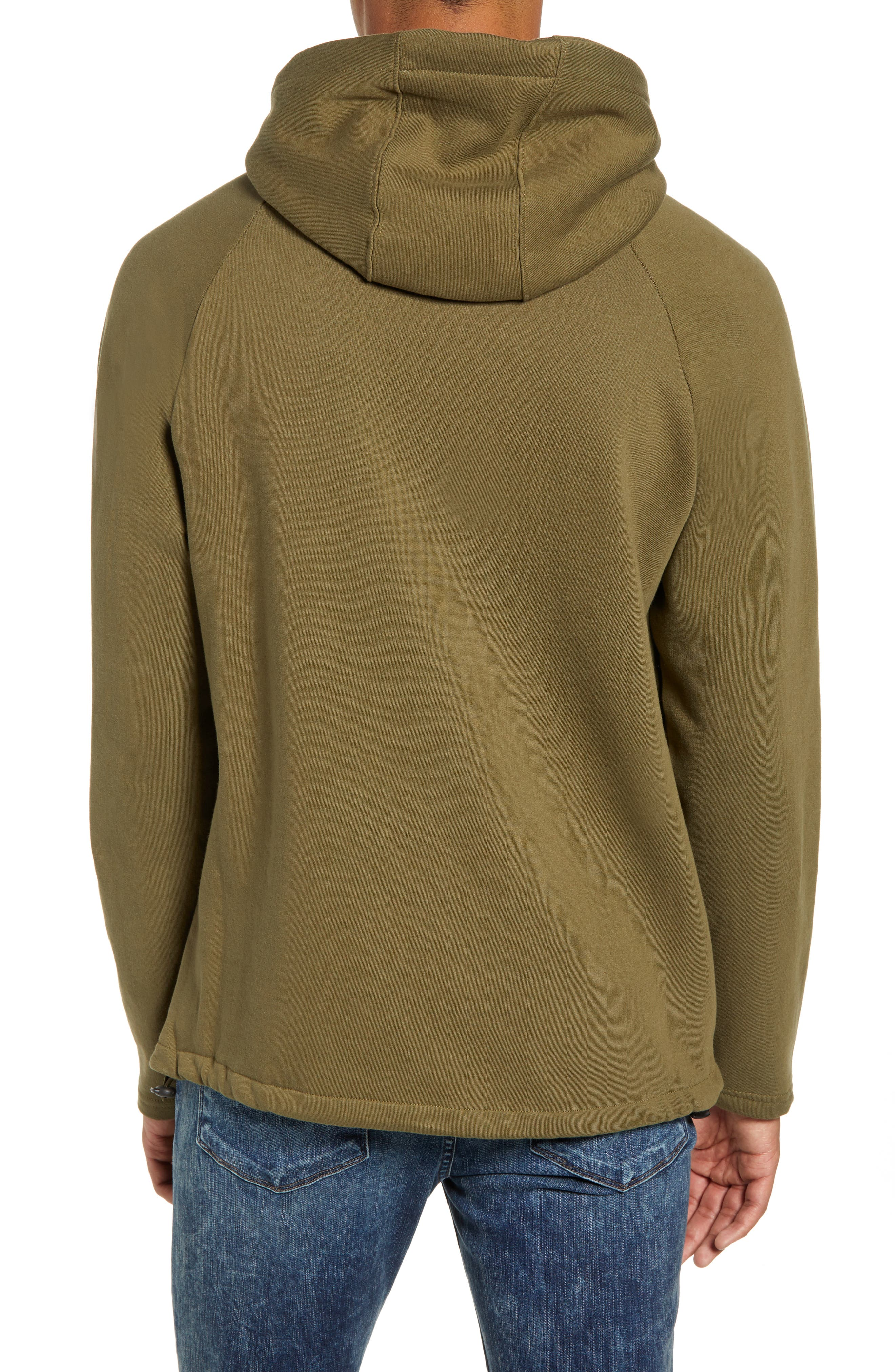 Patch Pocket Pullover Hoodie,                             Alternate thumbnail 2, color,                             OLIVE