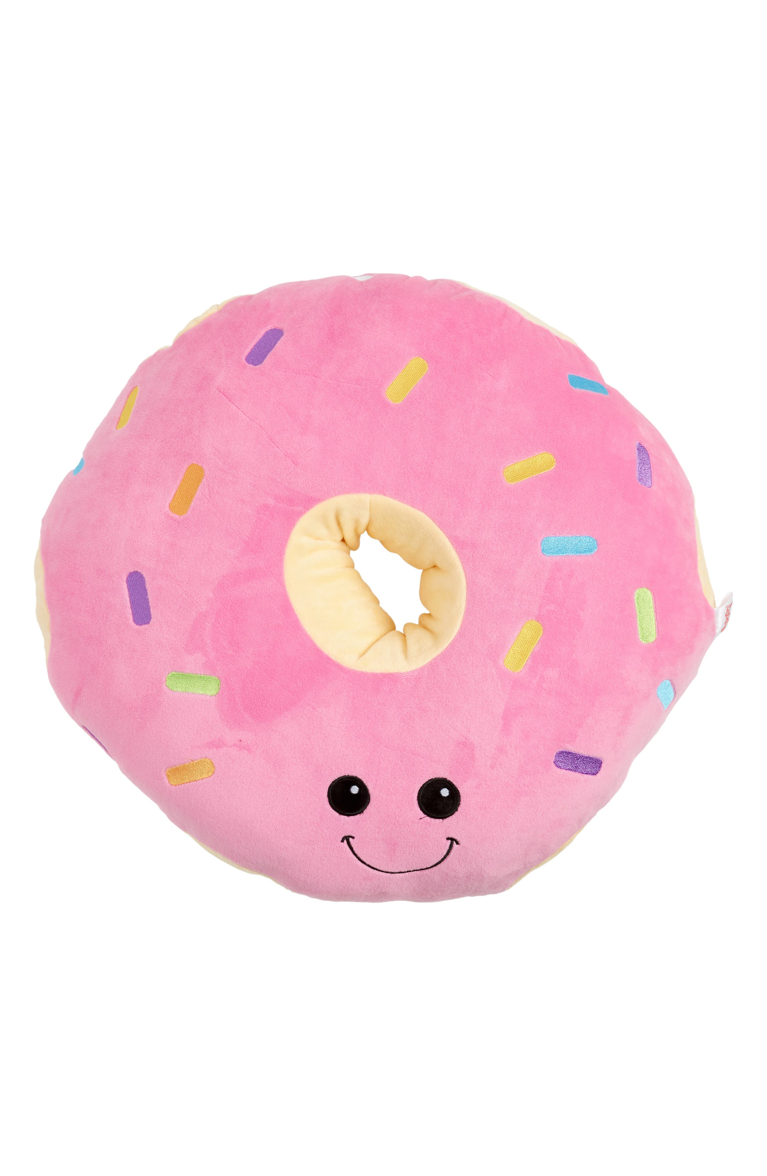 Scented Sprinkle Donut Pillow,                         Main,                         color, 652