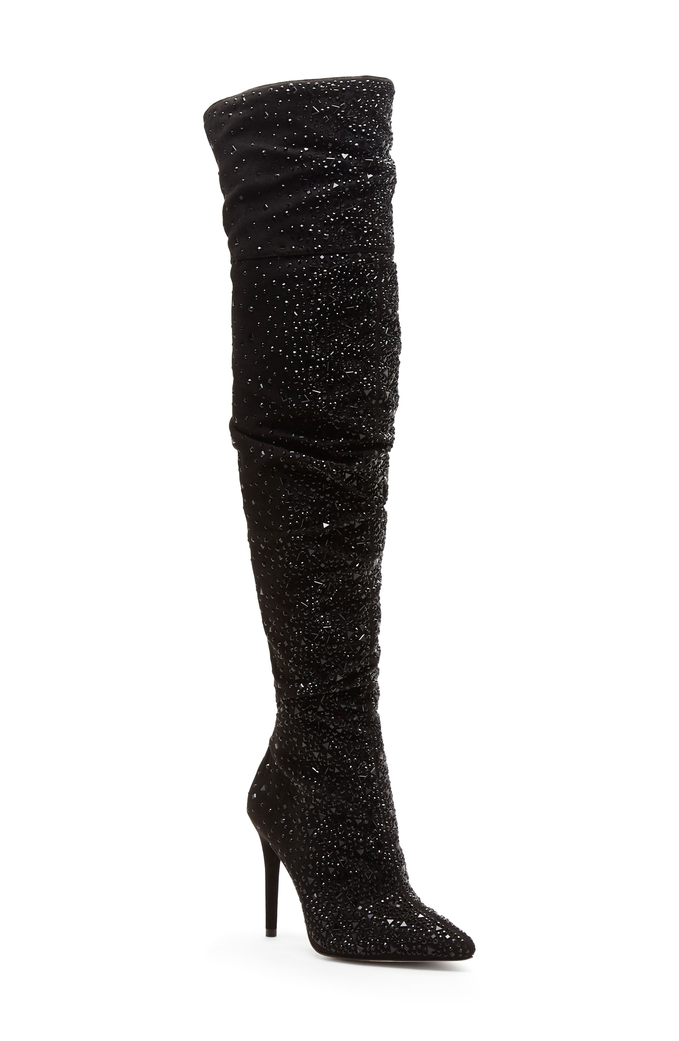 Luxella Over the Knee Boot,                             Main thumbnail 1, color,                             BLACK SPARKLES