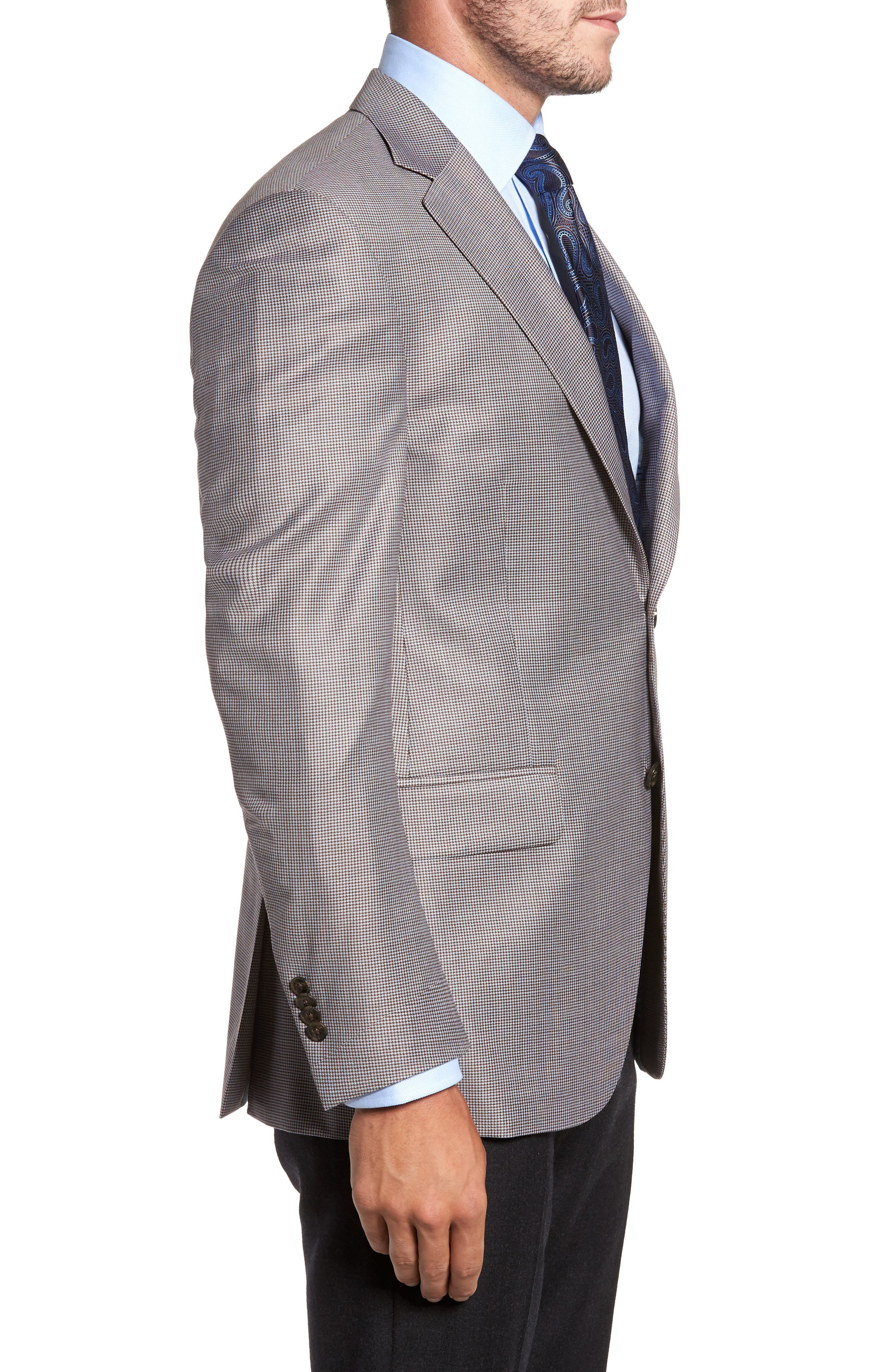 Classic Fit Houndstooth Wool Sport Coat,                             Alternate thumbnail 3, color,                             420