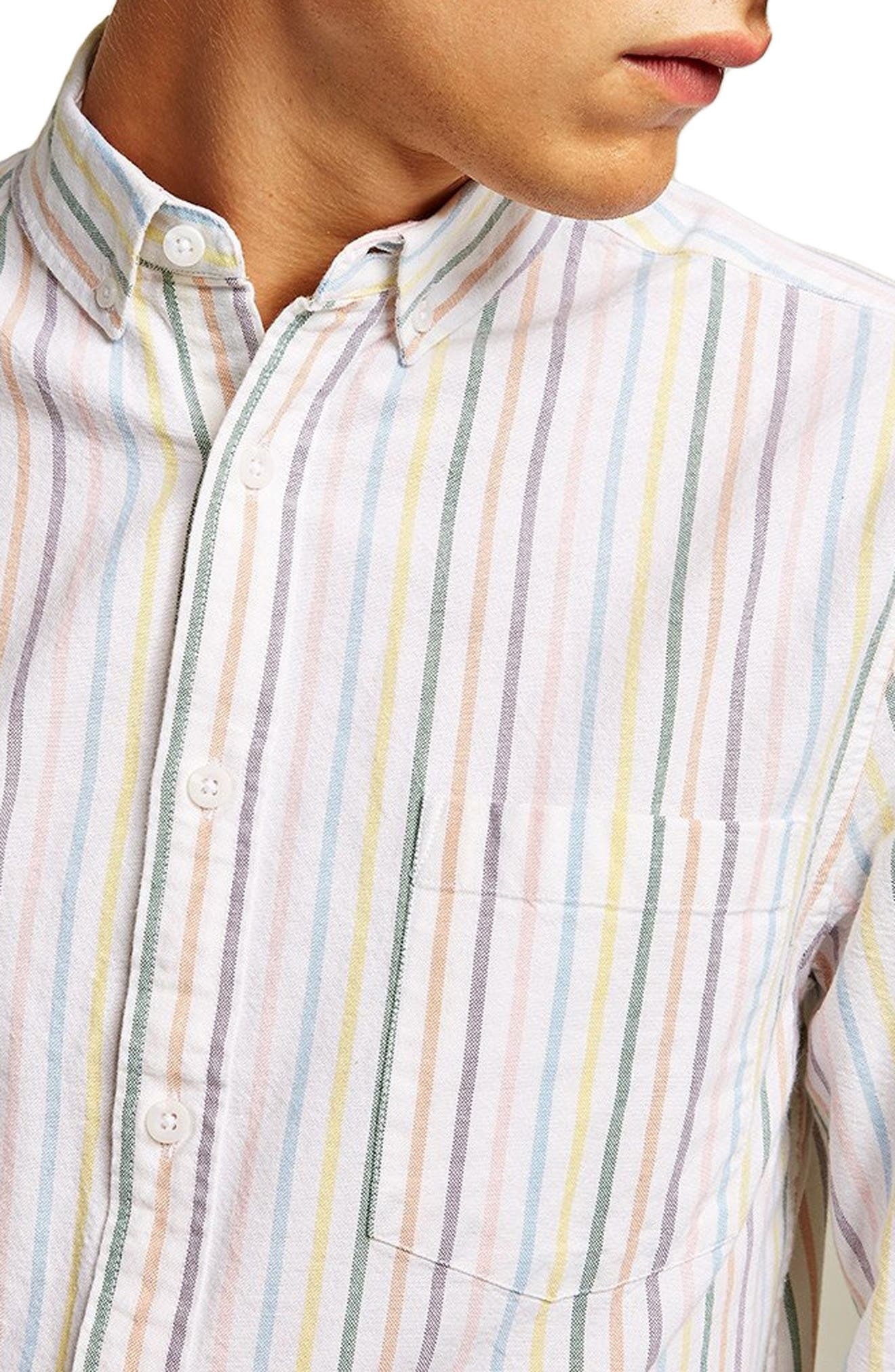Classic Stripe Shirt,                             Alternate thumbnail 2, color,                             WHITE MULTI