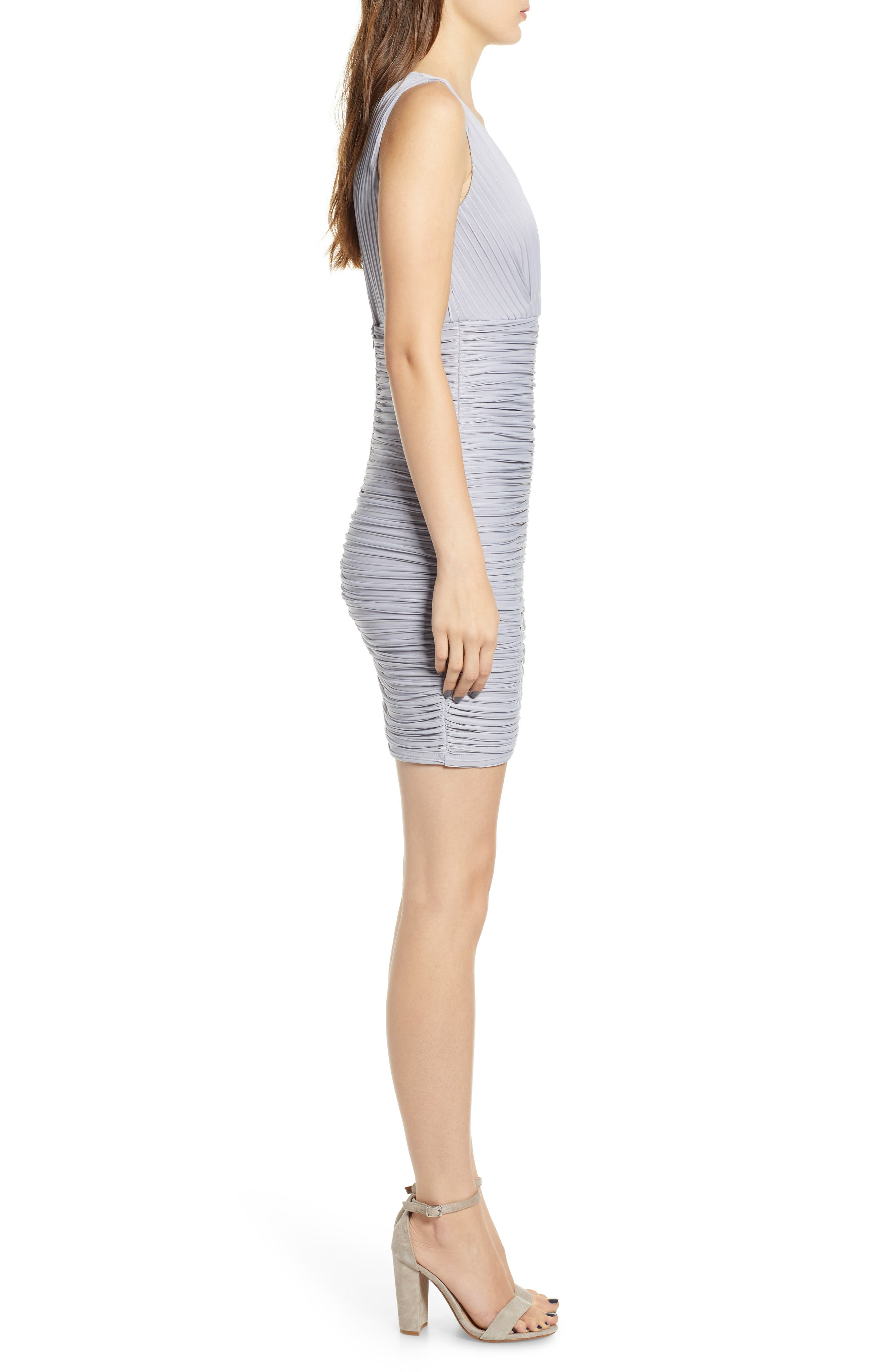 Ribbed Body-Con Dress,                             Alternate thumbnail 3, color,                             020