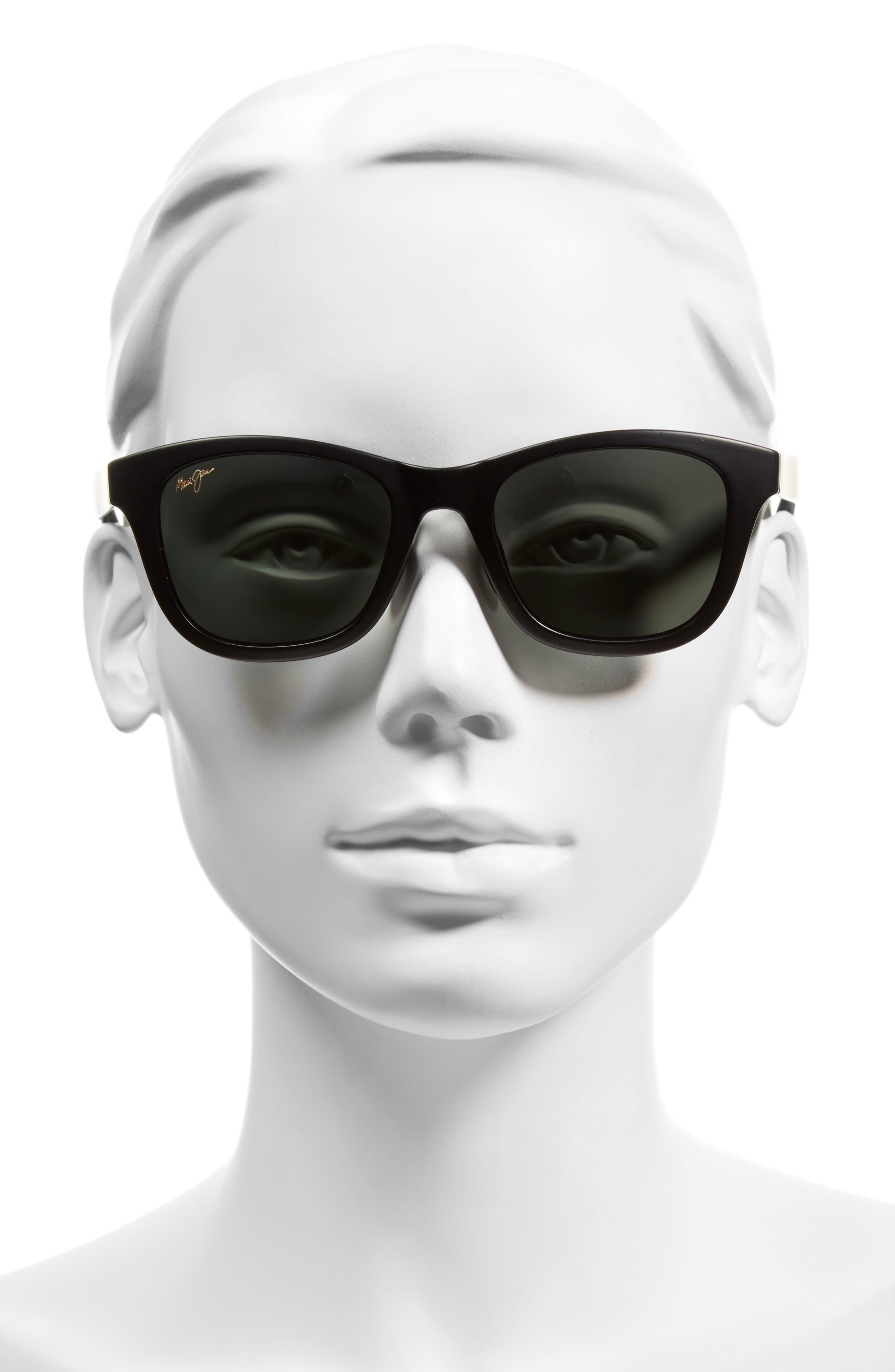 Hana Bay 51mm PolarizedPlus2<sup>®</sup> Sunglasses,                             Alternate thumbnail 2, color,                             MATTE BLACK/ NEUTRAL GREY