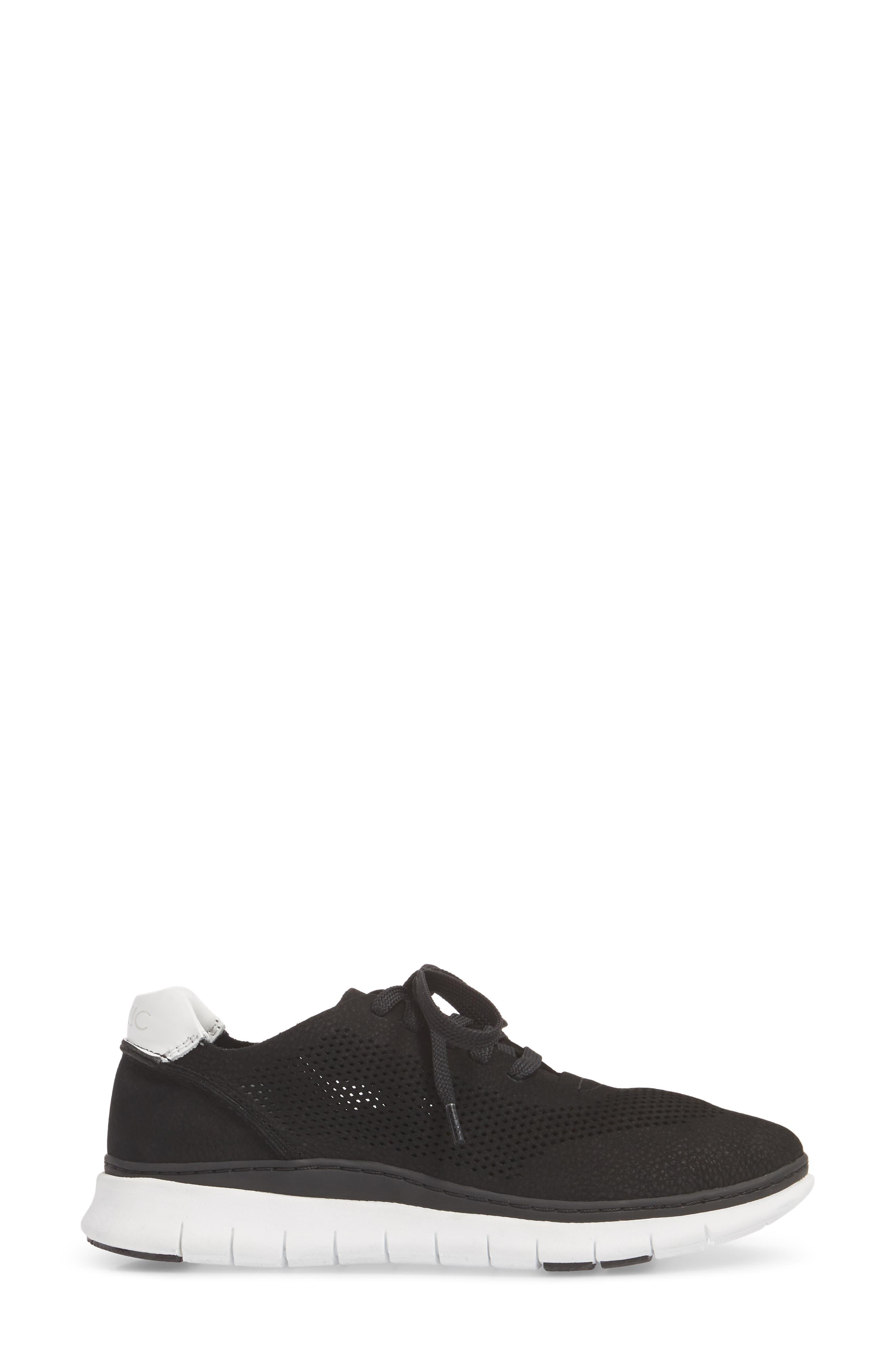 Joey Sneaker,                             Alternate thumbnail 3, color,                             BLACK NUBUCK LEATHER