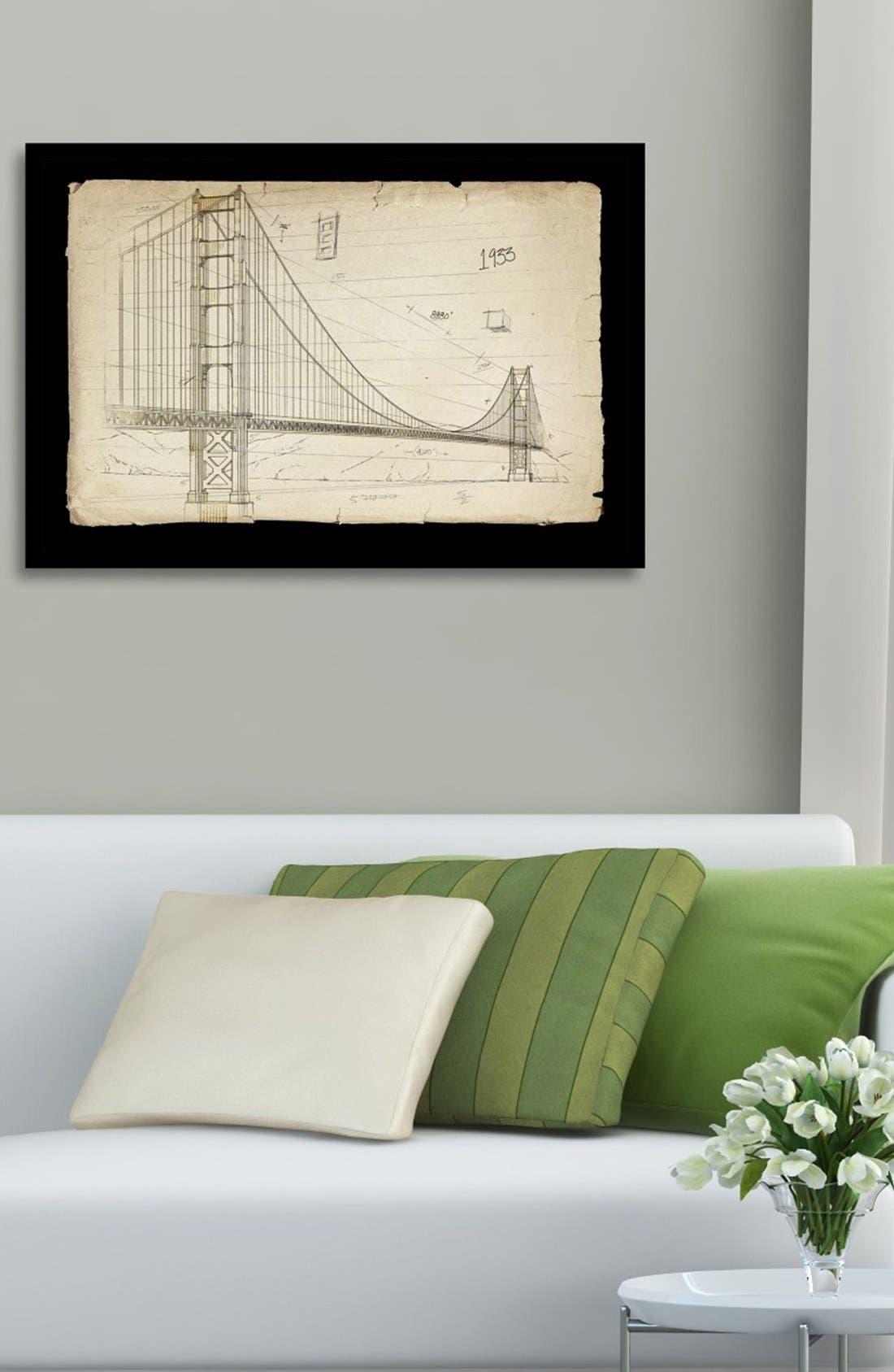 'Golden Gate Bridge 1933' Framed Art Print,                             Alternate thumbnail 2, color,                             100